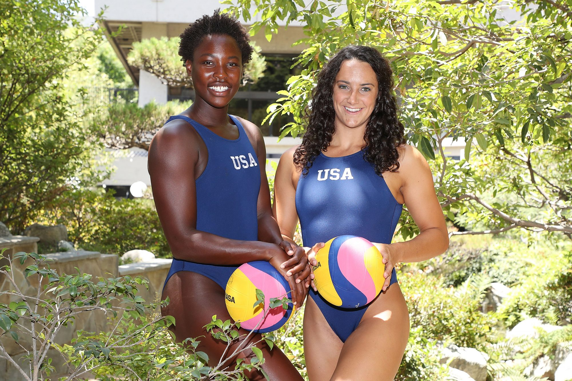 Ashleigh Johnson and Maggie Steffens