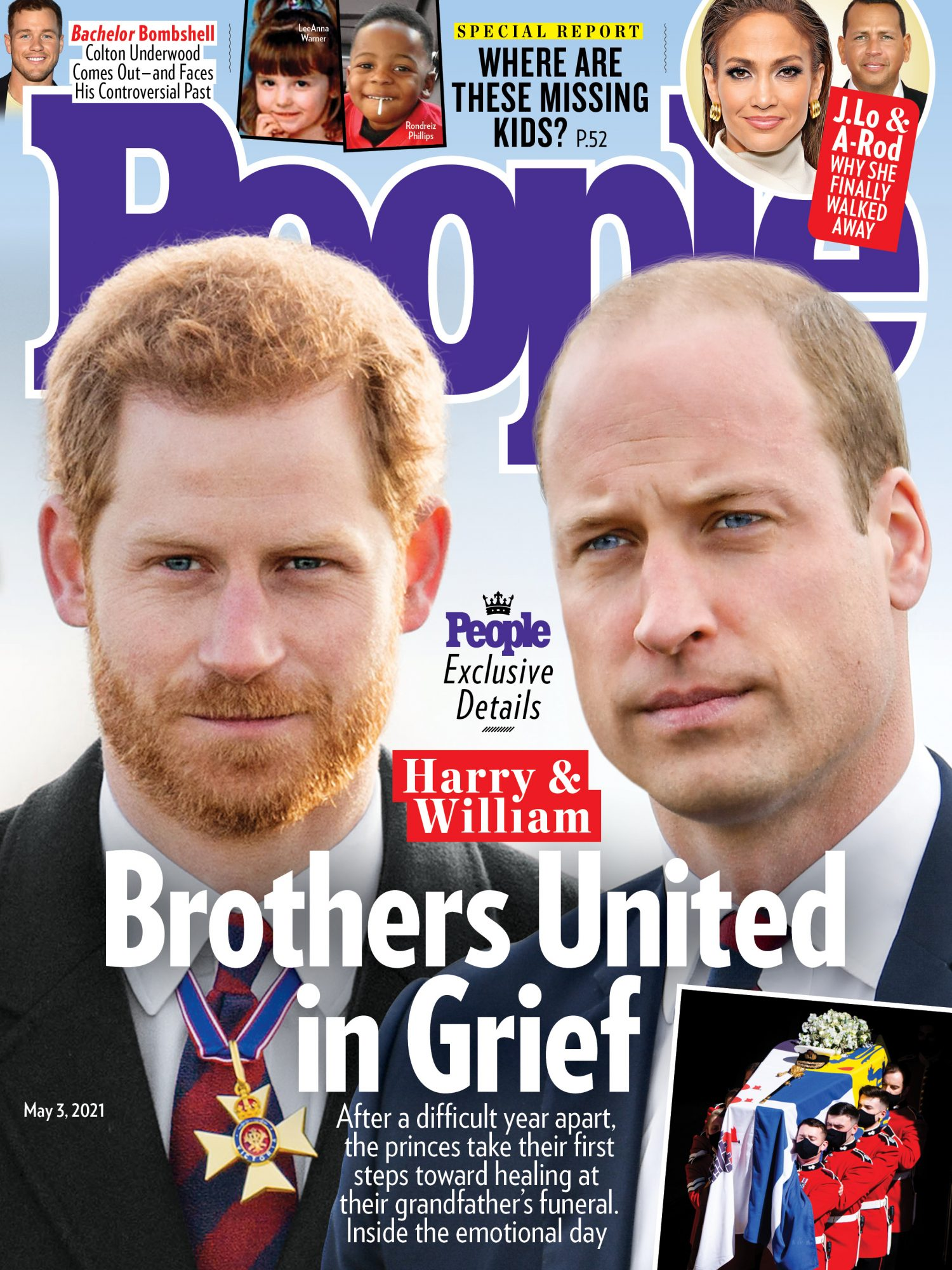 5/3/2021 cover Prince Harry and Prince WIlliam