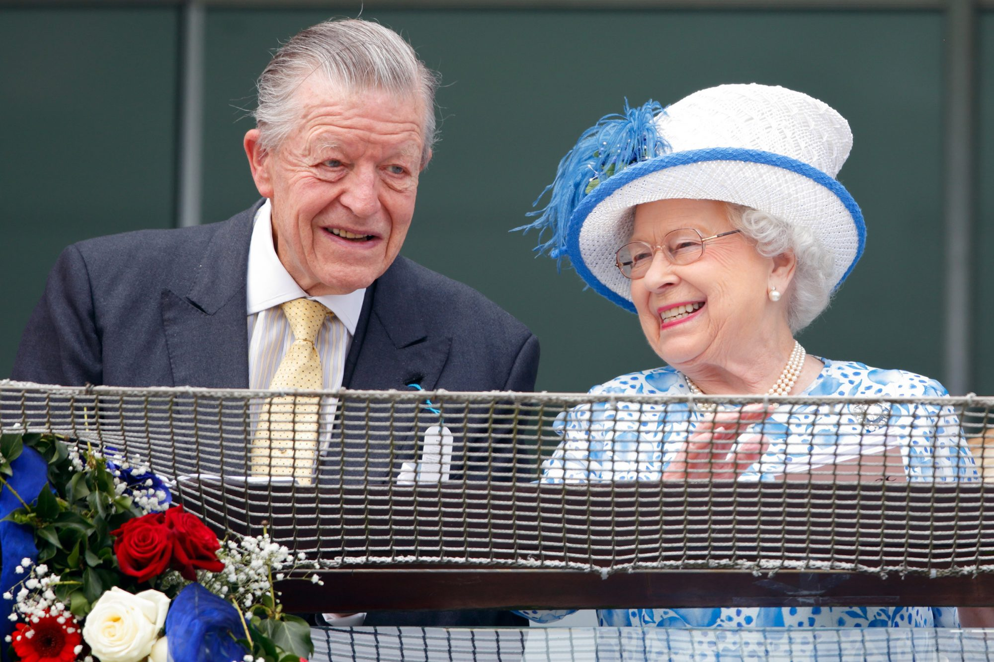 Sir Michael Oswald and Queen Elizabeth II