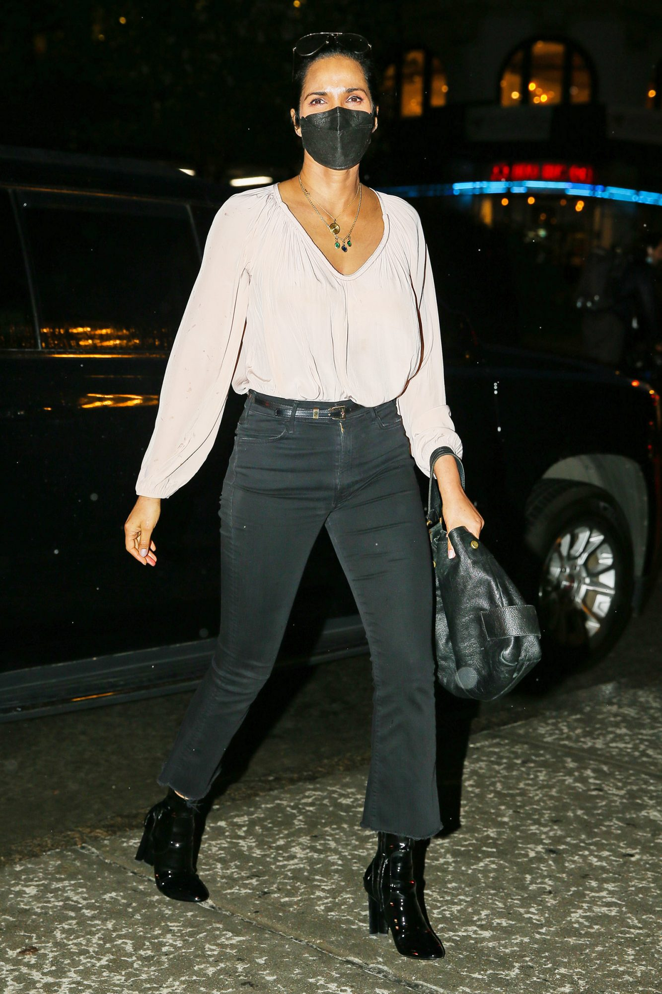 Padma Lakshmi Spotted On A Night Out In New York City