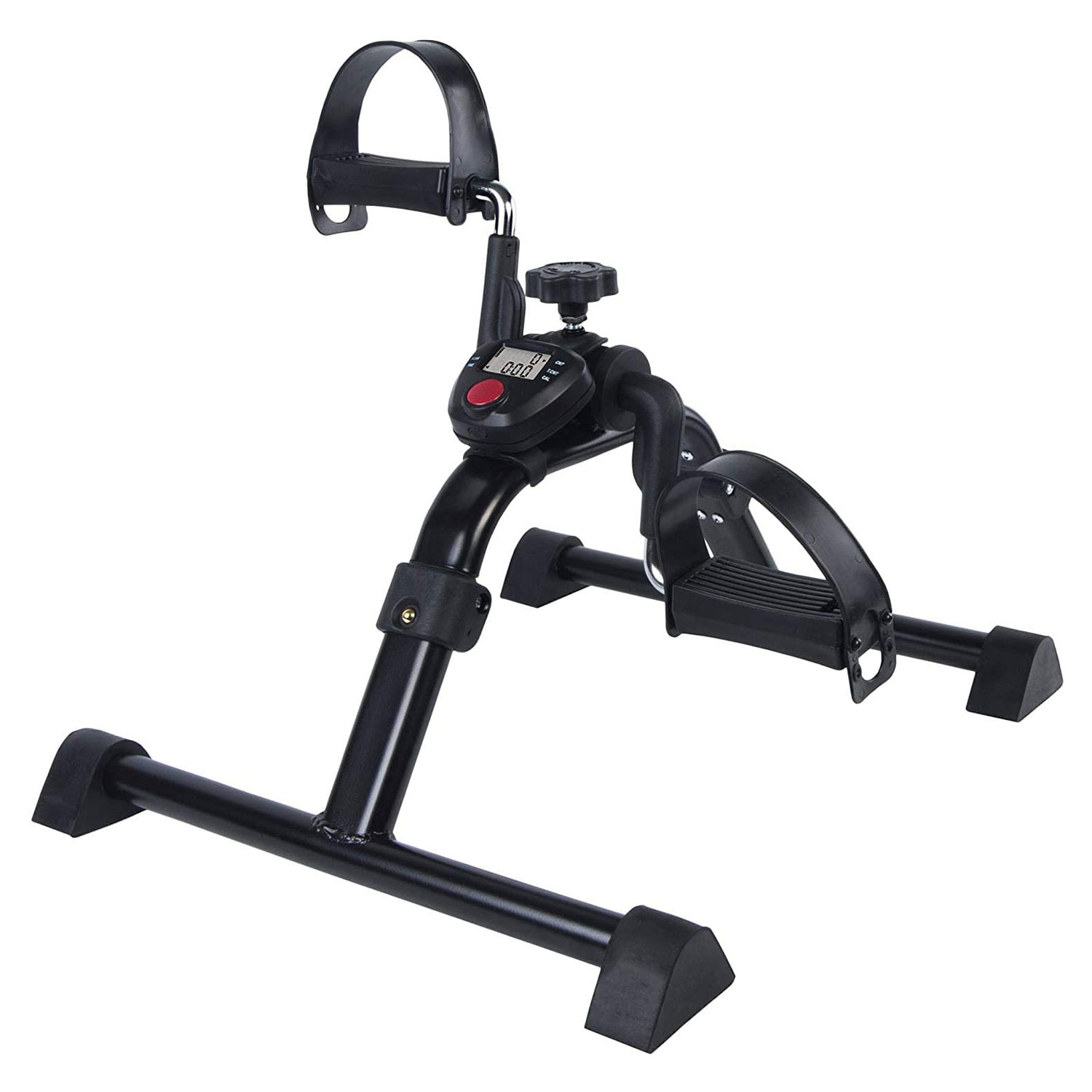 Vaunn Medical Folding Pedal Exerciser with Electronic Display for Legs and Arms Workout