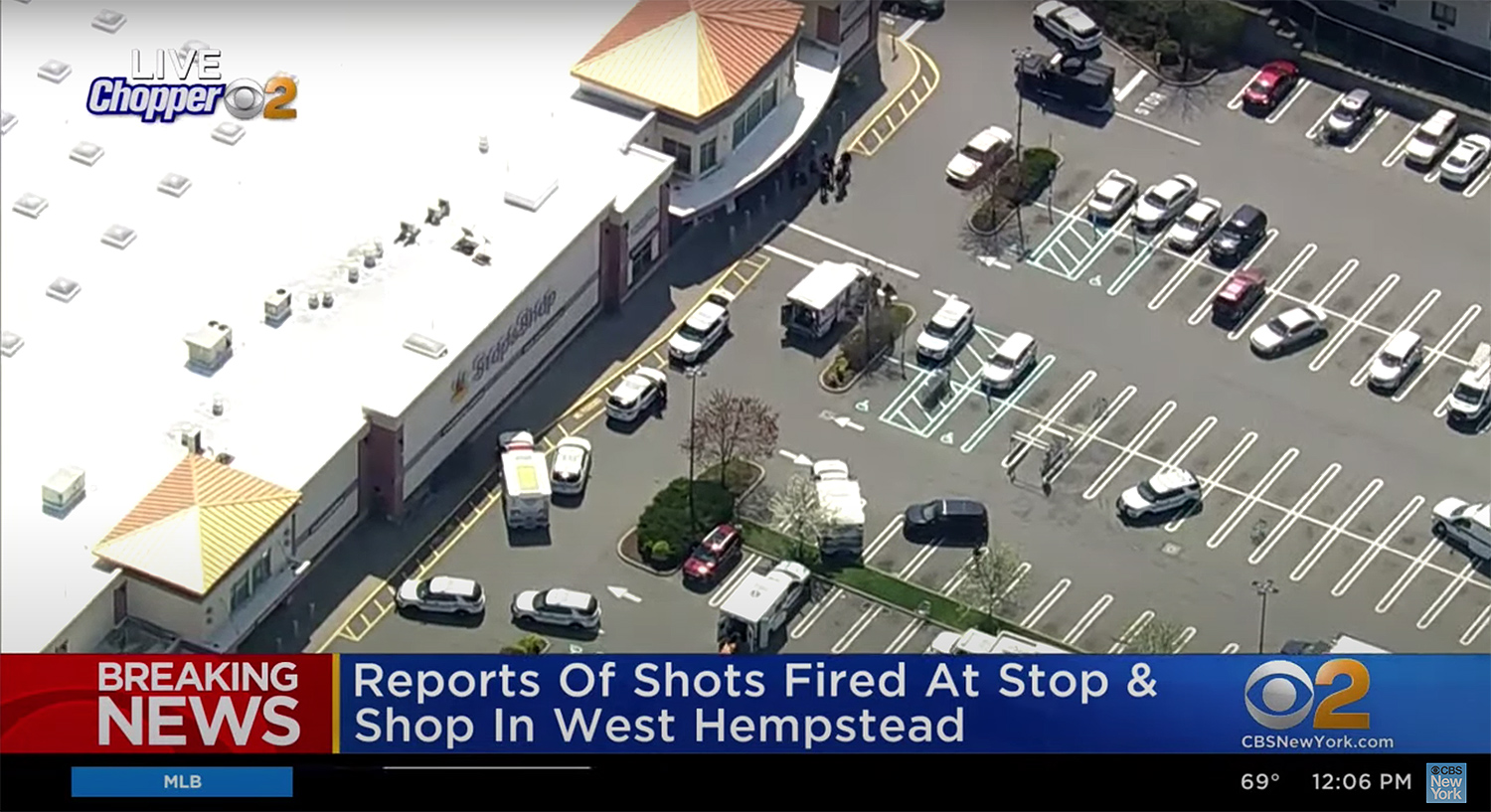 Three people were shot at a Long Island grocery store