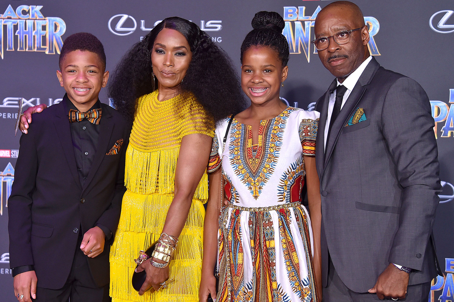 Angela Bassett and Courtney B. Vance with their kdis