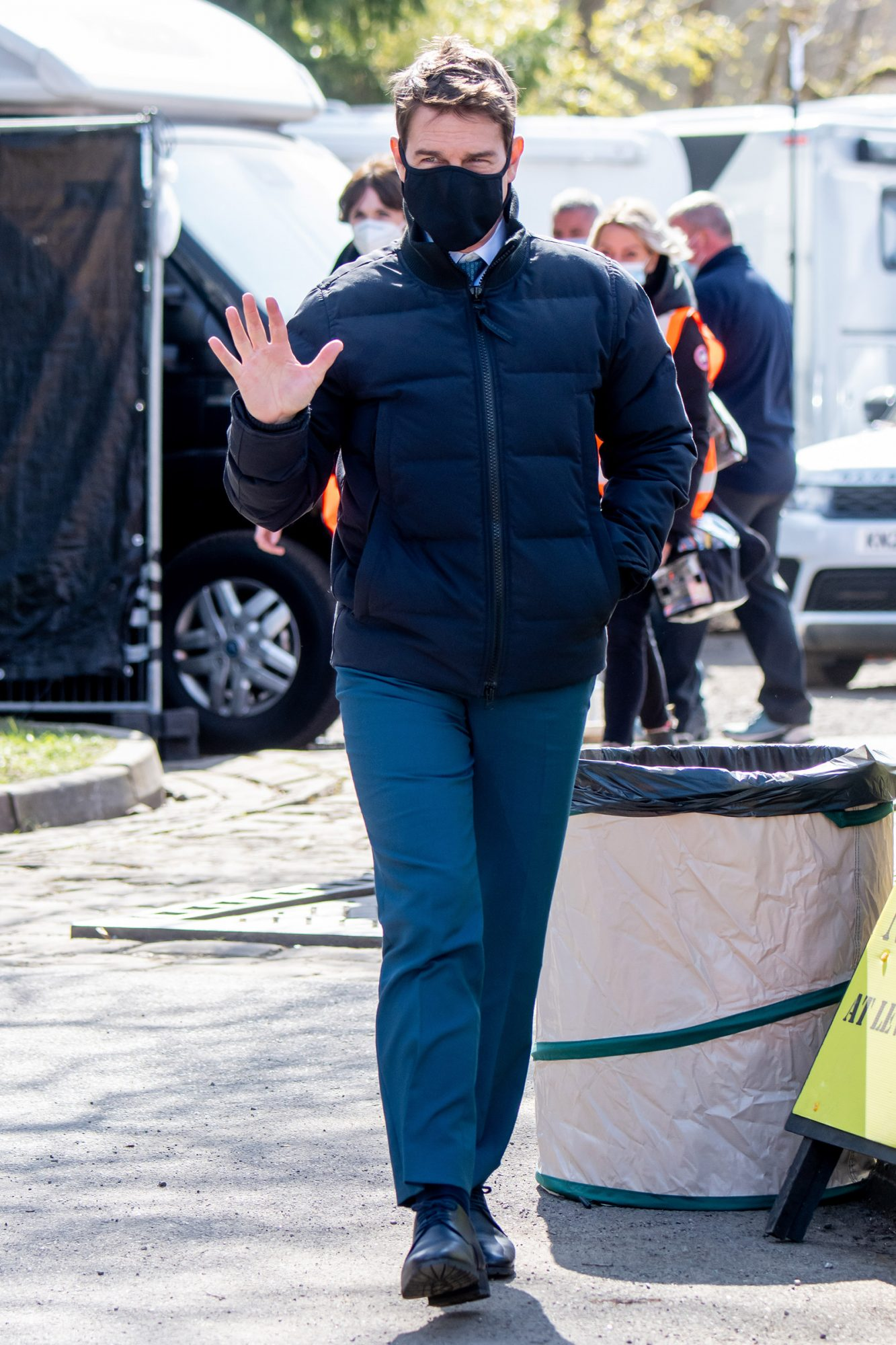 Tom Cruise and Hayley Atwell are seen on the set of Mission Impossible 7