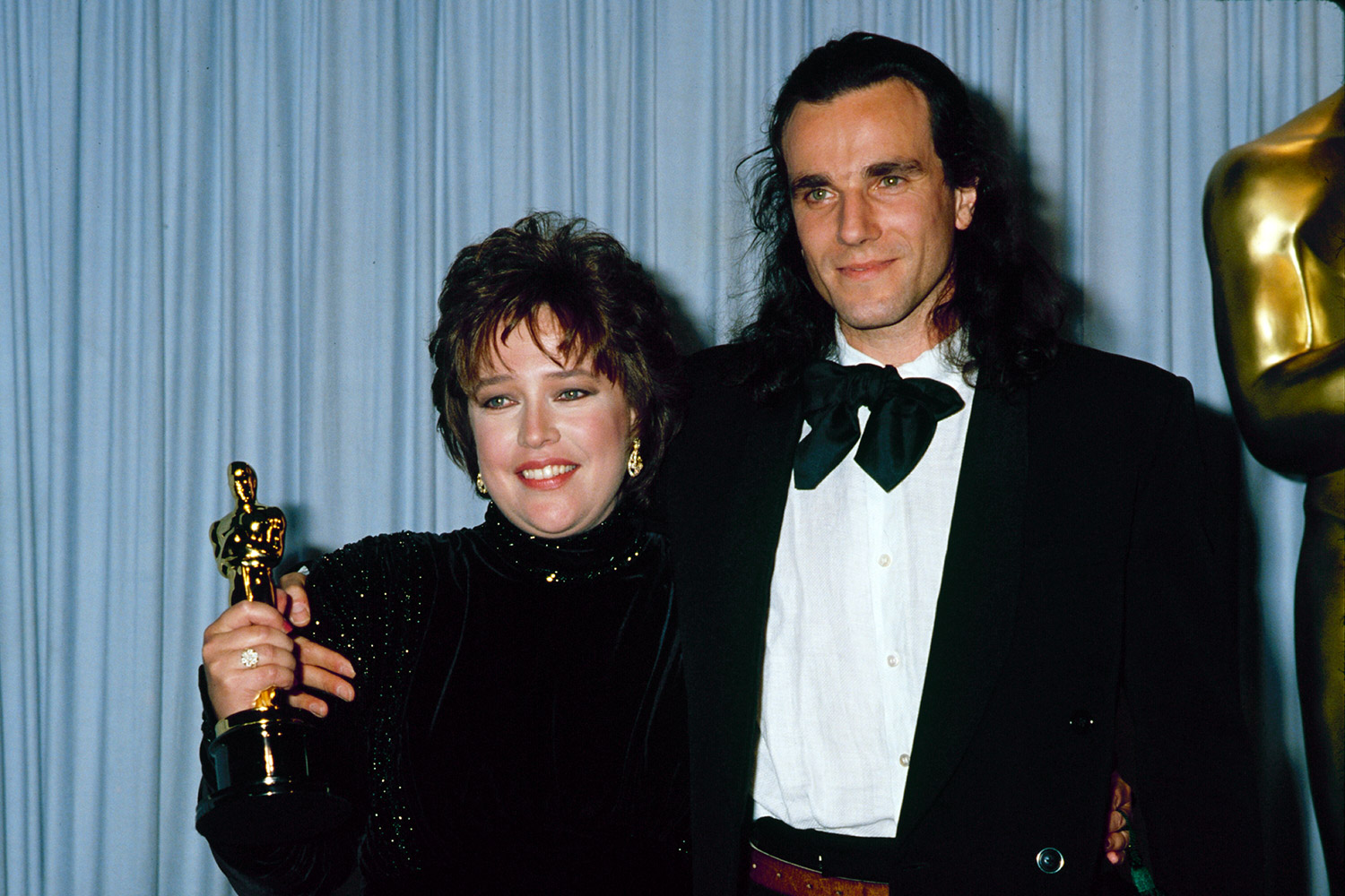 Kathy Bates and Daniel Day Lewis during 63rd Annual Academy Awards
