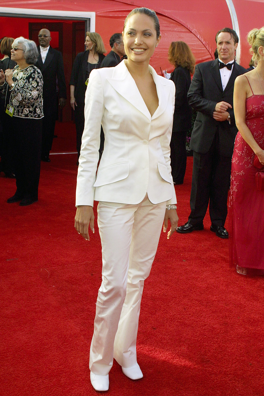 Angelina Jolie arriving for the 73rd Academy Awards