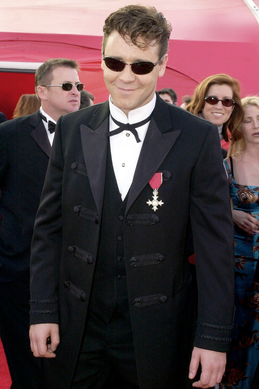 Russell Crowe arrives at the 73rd Annual Academy Awards