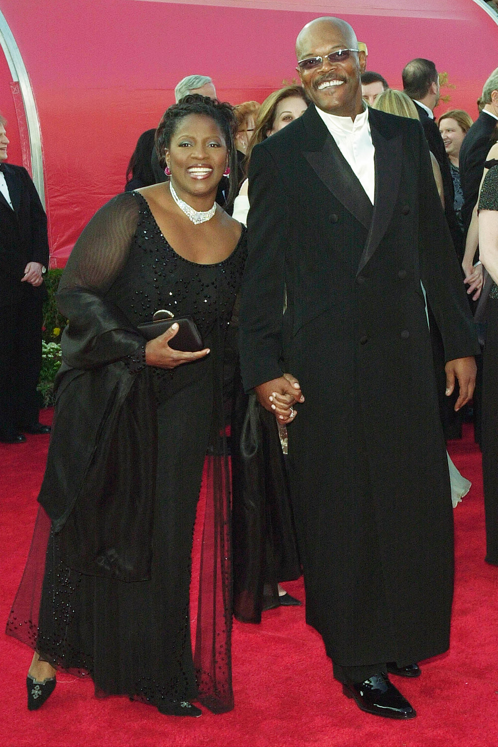 Samuel L. Jackson and his wife LaTanya Richardson at the 73rd Annual Academy Awards