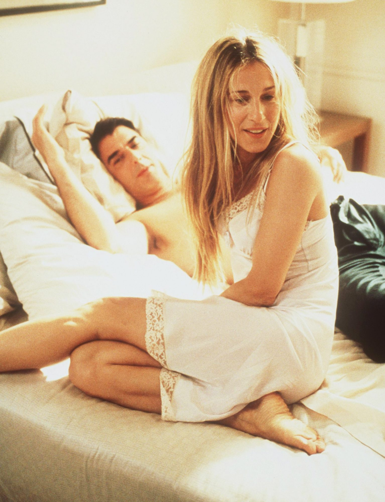 "Sarah Jessica Parker and Chris Noth star in ""Sex And The City"" (""Evolution"" episode)."