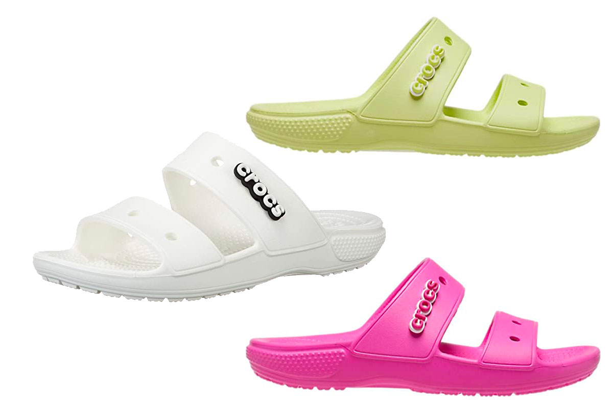 Crocs Unisex-Adult Classic Two-Strap Slide Sandals