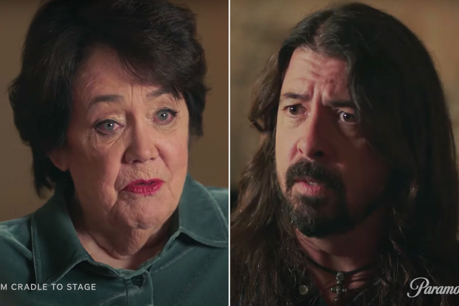 Dave Grohl (R) and his mom Virginia in From Cradle to Stage