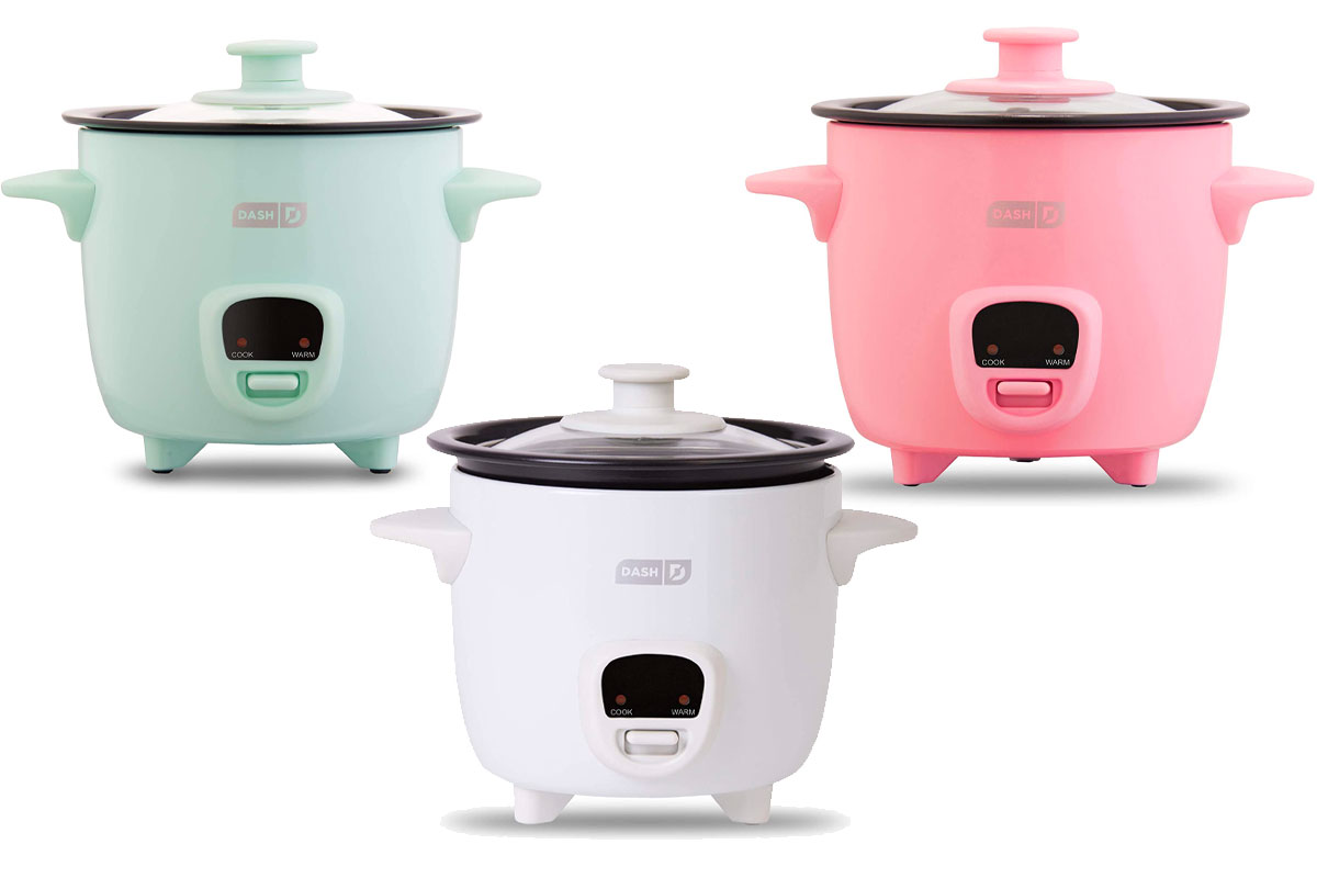 Dash DRCM200GBAQ04 Mini Rice Cooker Steamer with Removable Nonstick Pot
