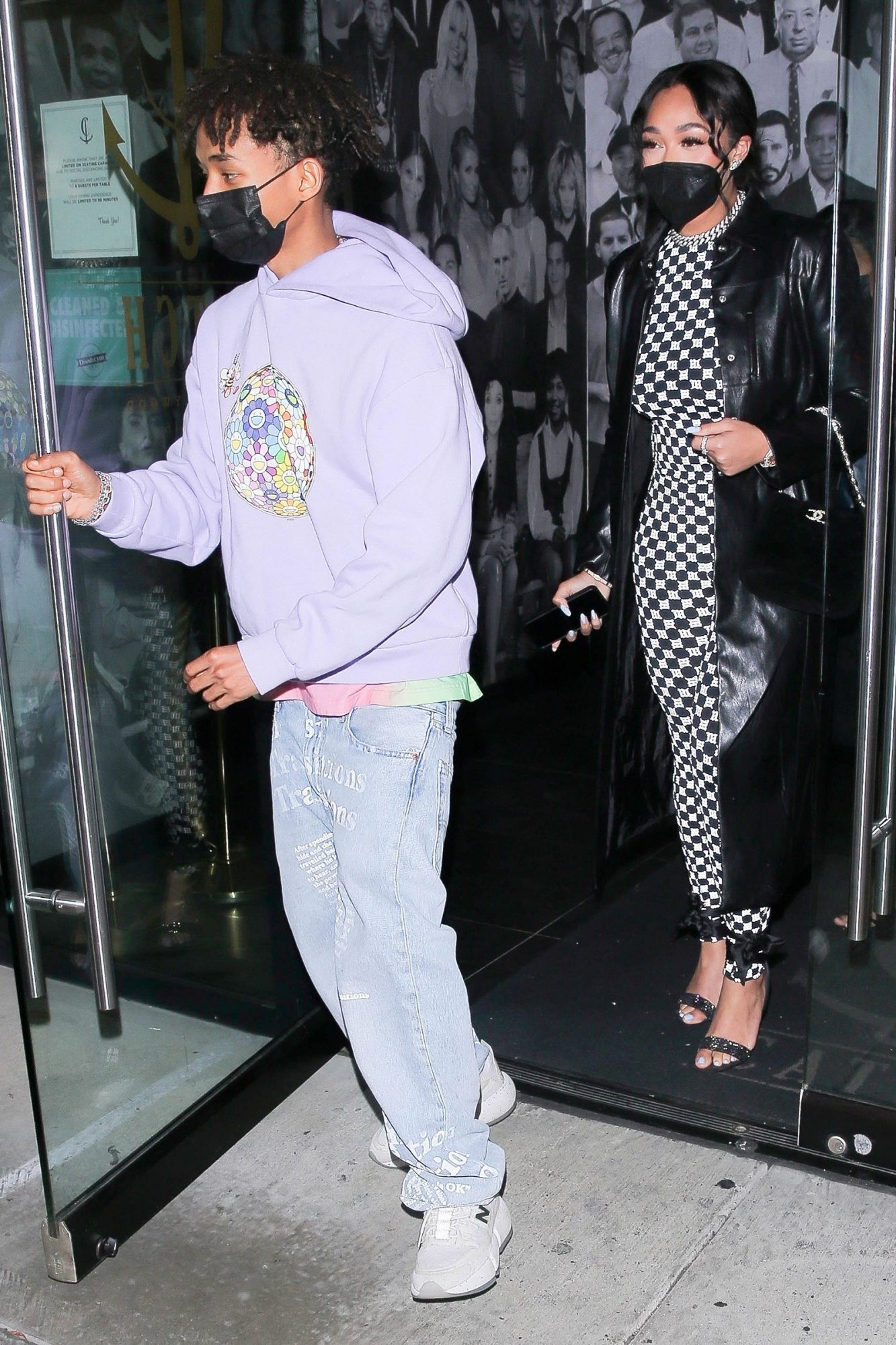 Jordyn Woods & BFF Jaden Smith step out to dinner together in West Hollywood