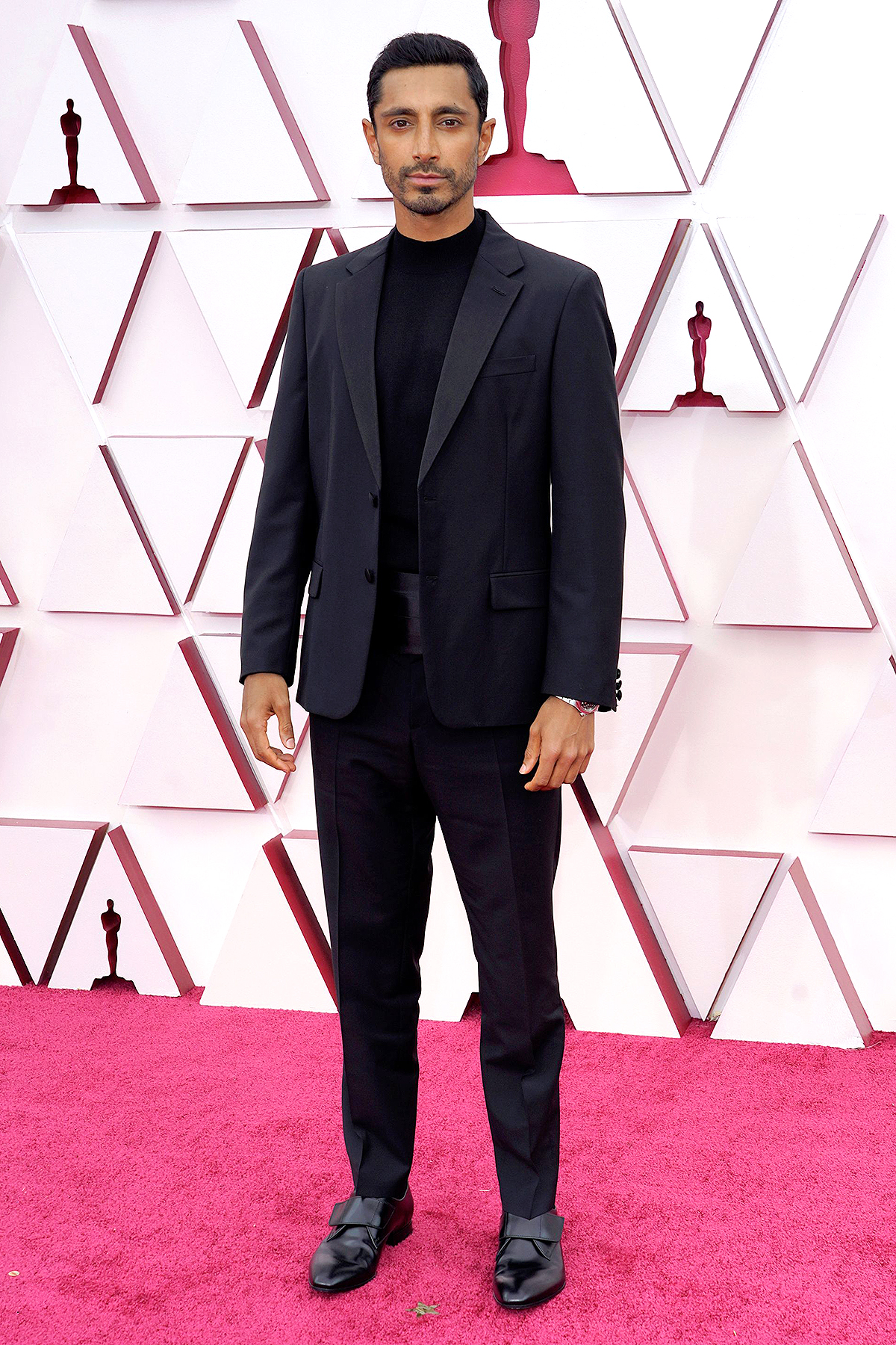 Riz Ahmed arrives at the Oscars