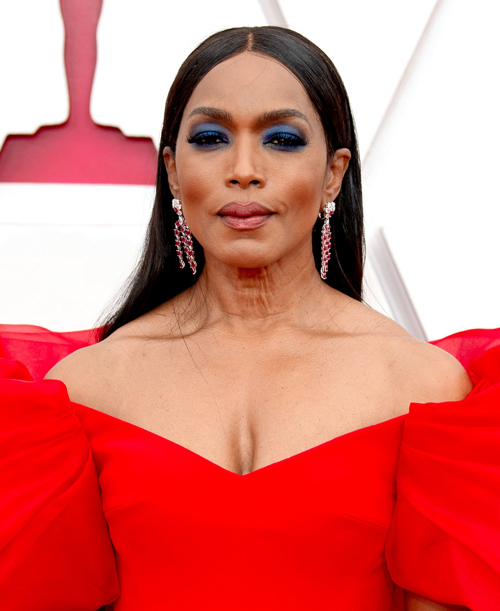 Angela Bassett attends the 78th Annual Golden Globe Awards held at The Beverly Hilton and broadcast on February 28, 2021