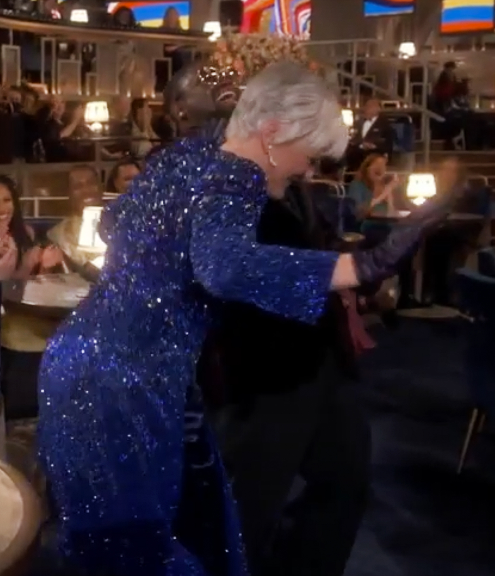Glenn Close dancing