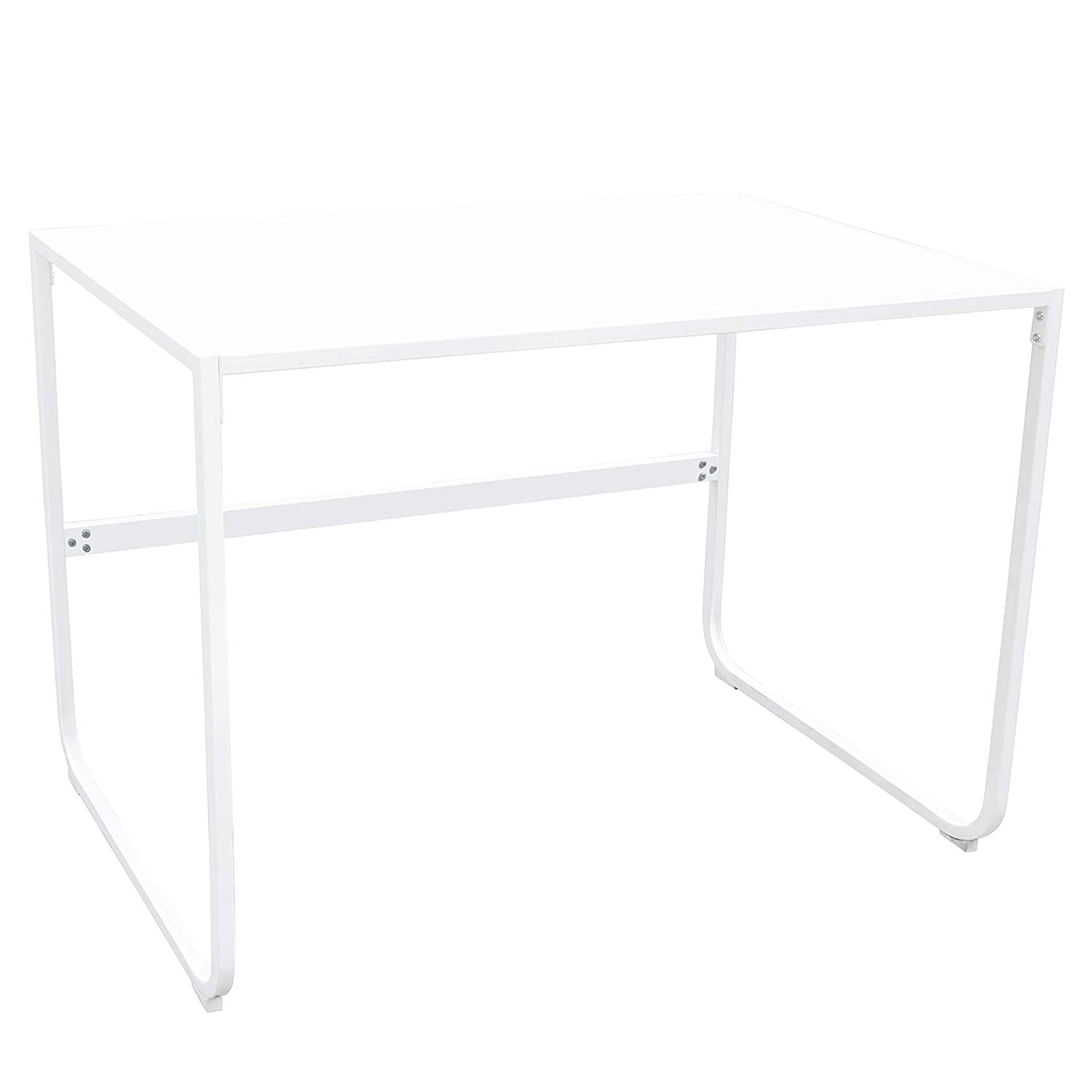Nathan James Penny Writing Desk with Sleek Curved Metal Frame for Home or Office