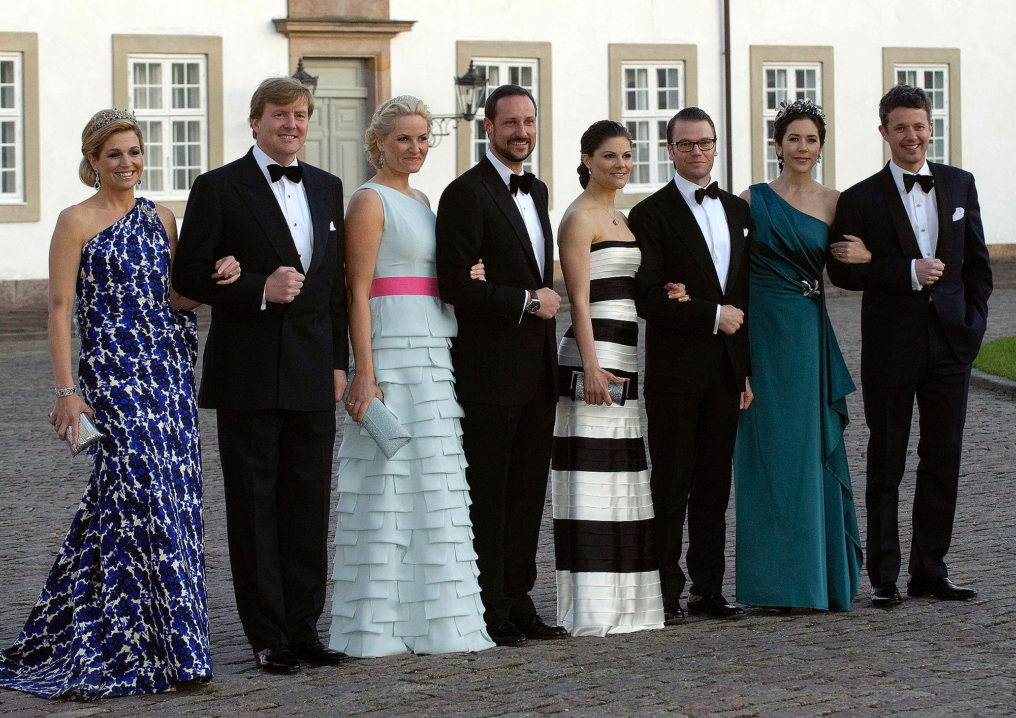 Crown Princess Maxima and Crown Prince Willem-Alexander, Norway's Crown Princess Mette-Marit and Crown Prince Haakon, Sweden's Crown Princess Victoria and Daniel Westling and Danish Crown Princess Mary