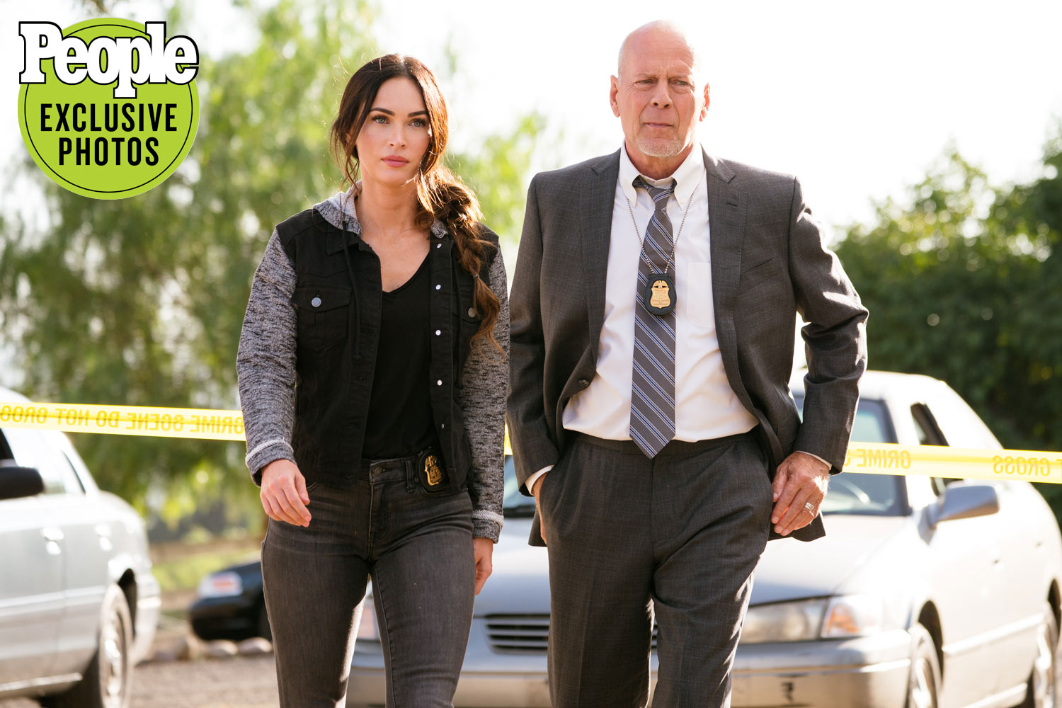 Bruce Willis and Megan Fox