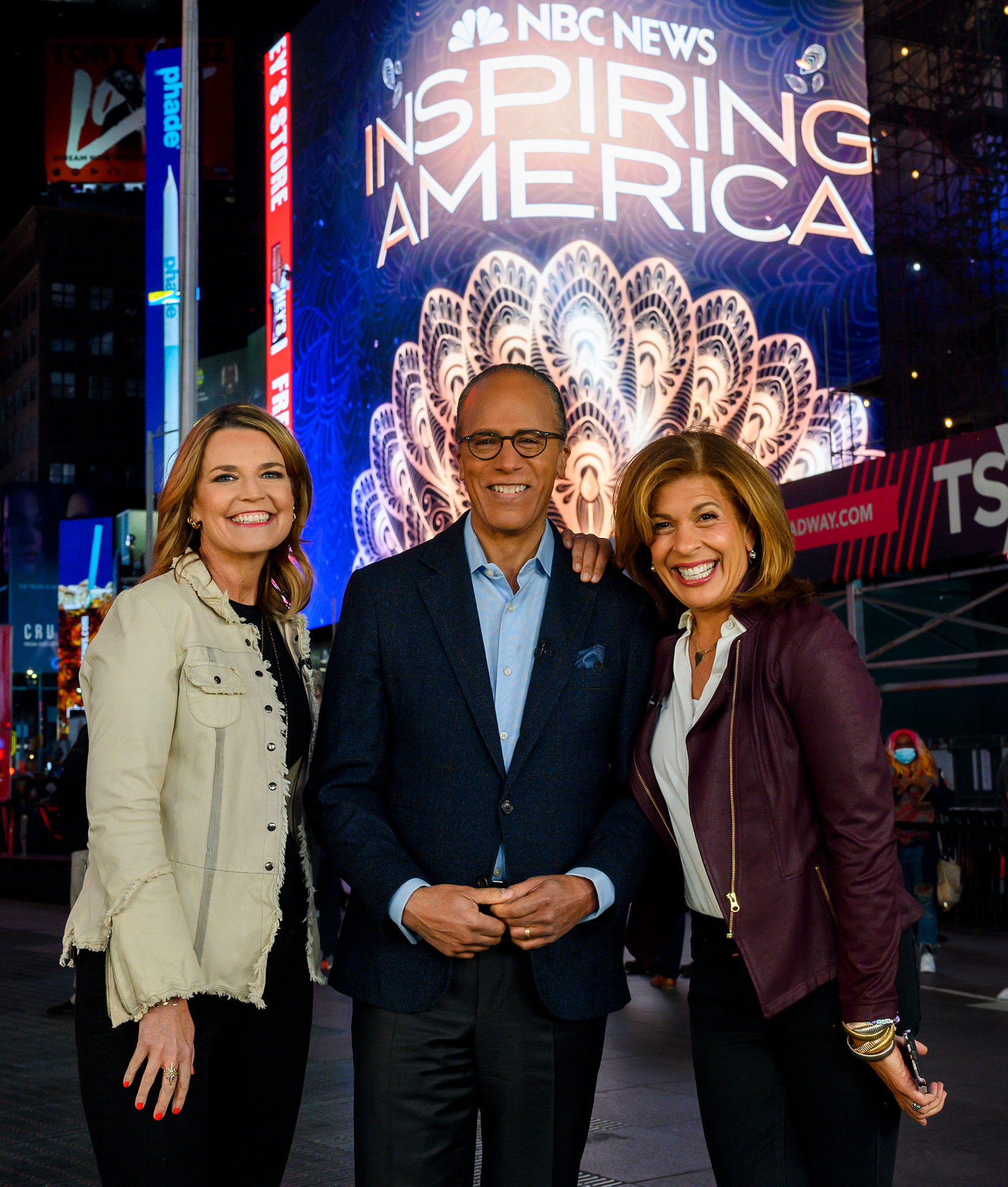 Savannah Guthrie, Lester Hold and Hoda Kotb