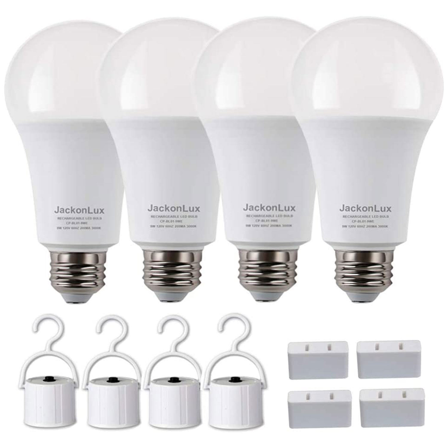 Rechargeable Emergency Light Bulb JackonLux UL Listed Battery Operated Light Bulb Power