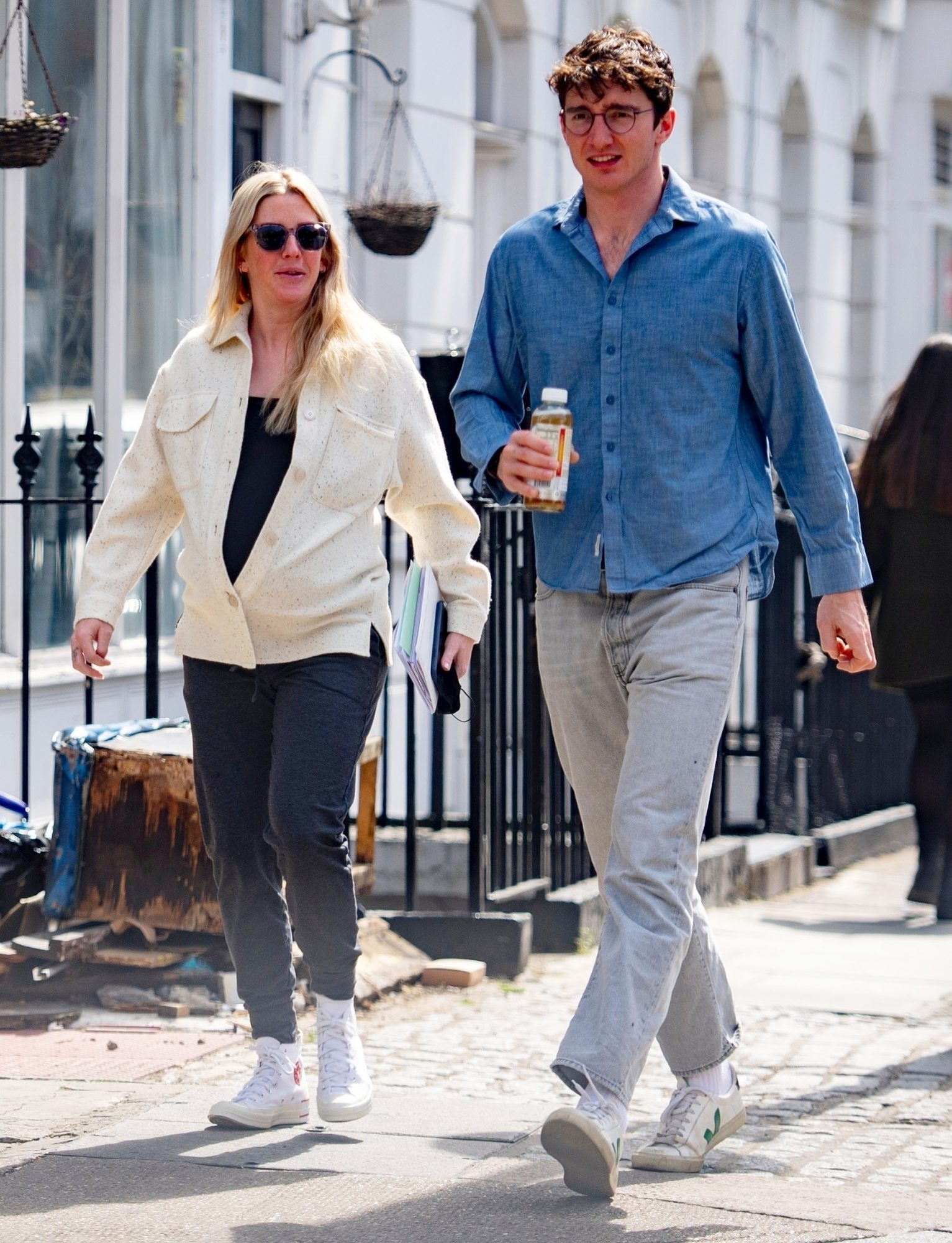 Ellie Goulding steps out with husband Caspar Jopling