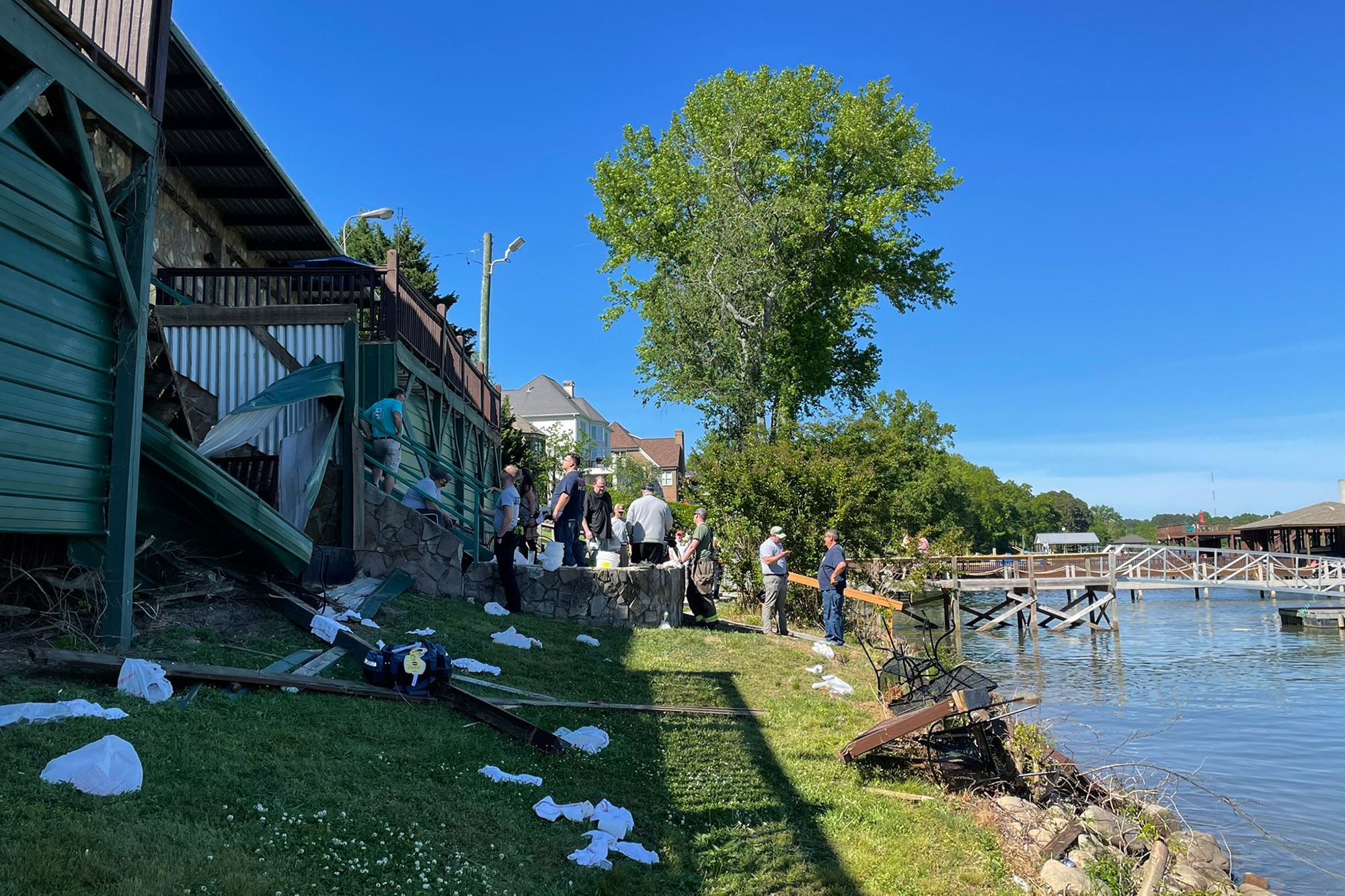 Deck Collapse at Zoi's Restaurant