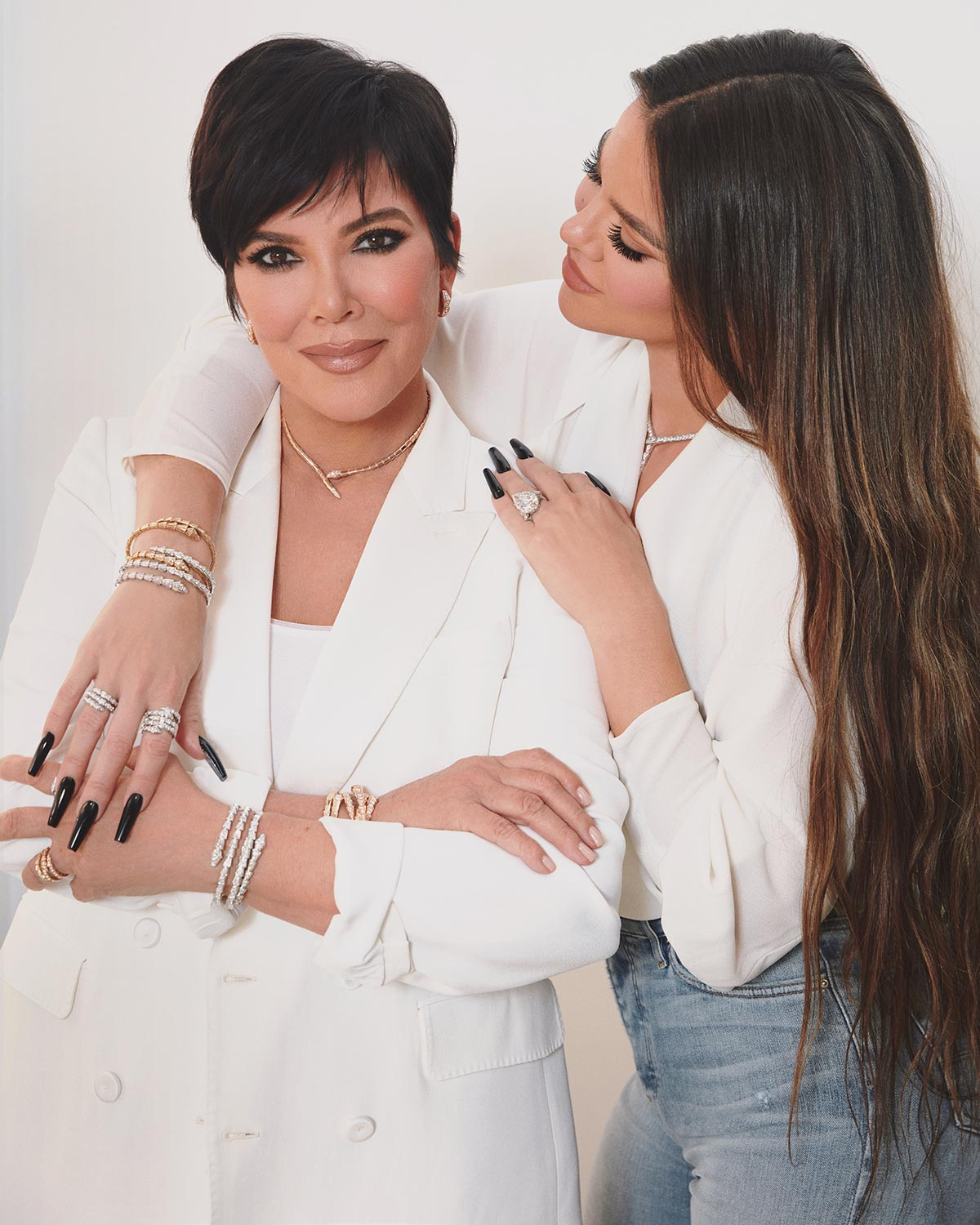 Khloe Kardashian  and Kris Jenner celebrate Mother's Day with BVLGARI in iconic Serpenti Viper jewelry.
