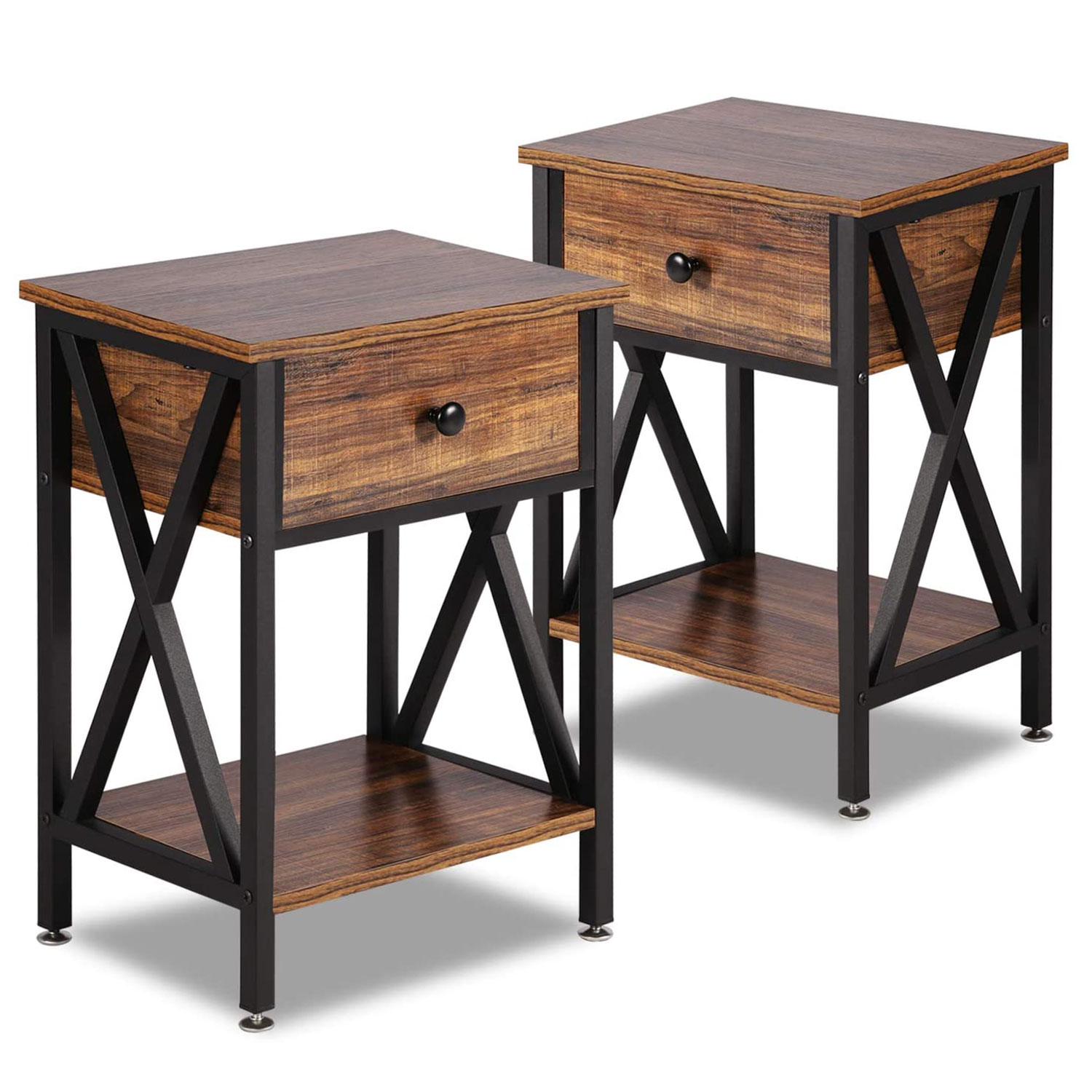 End Tables with Drawer Cabine