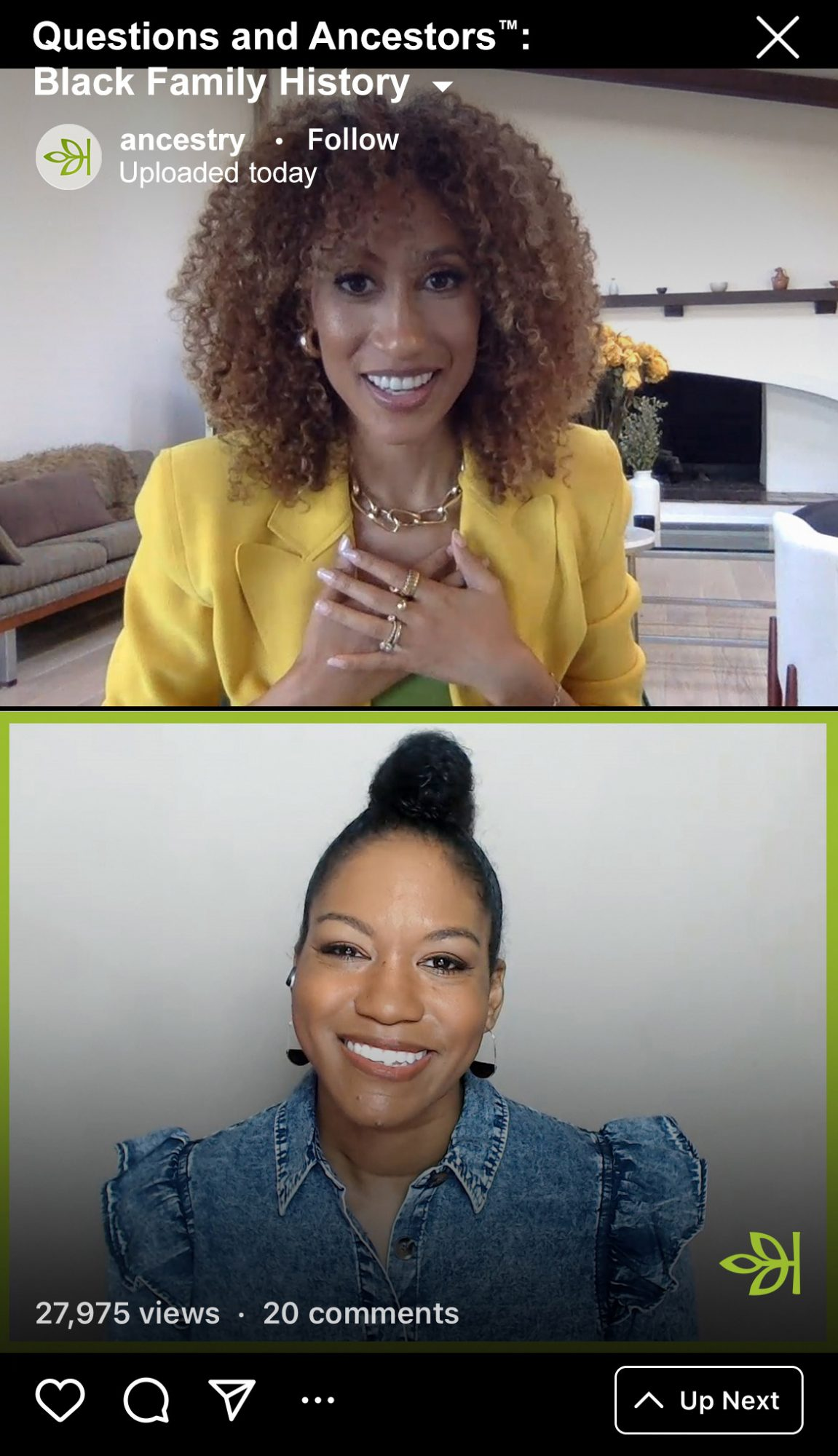 """Elaine Welteroth/Nicka Sewell-Smith from the Ancestry IG TV series """"Questions and Ancestors: Black Family History"""""""
