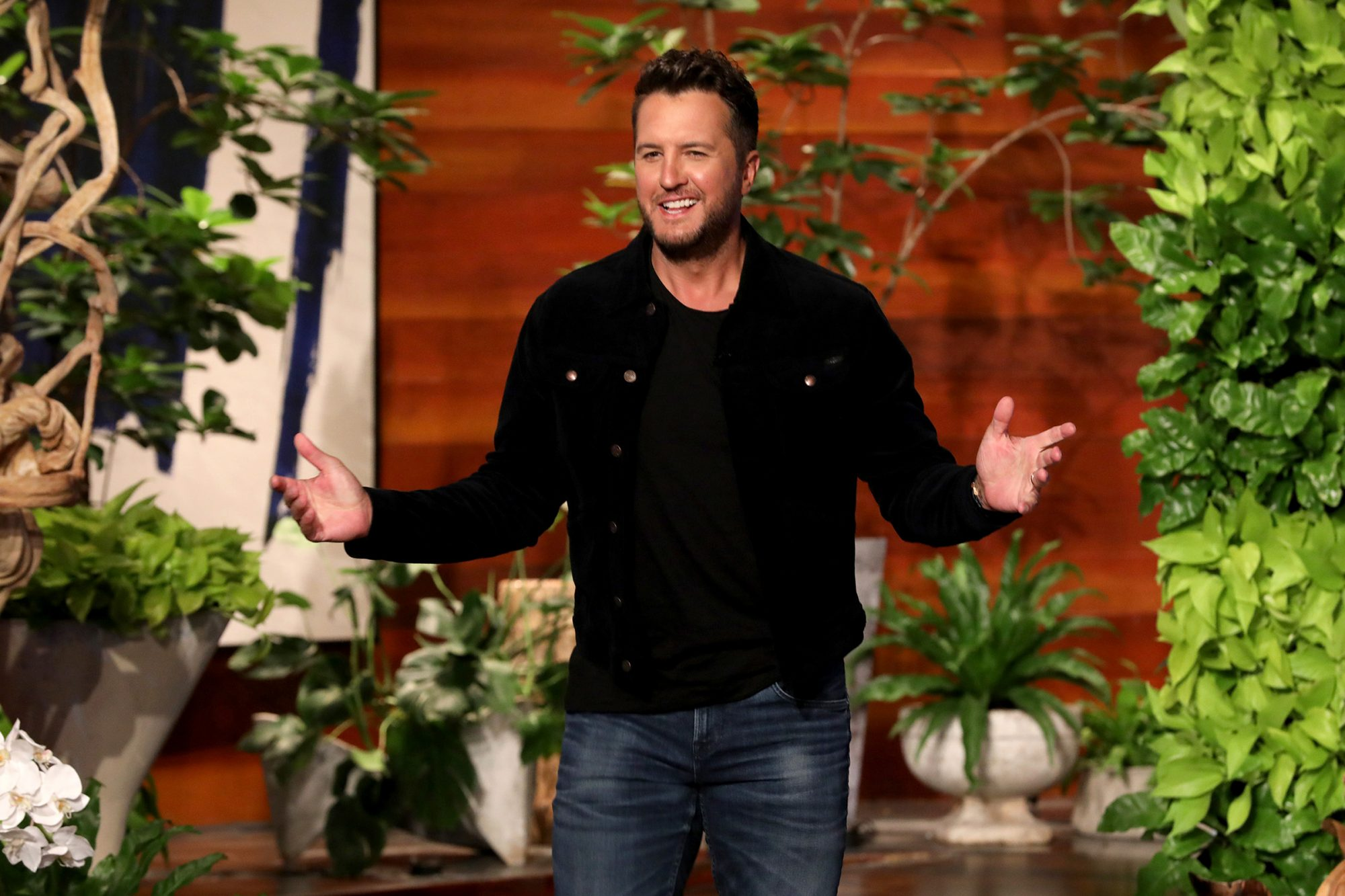 "Country music superstar Luke Bryan makes an in-studio appearance on ""The Ellen DeGeneres Show,"" airing Tuesday, May 4th."