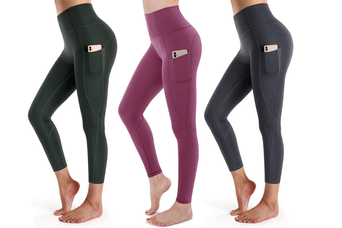 STYLEWORD Womens Yoga Pants with Pockets High Waist Workout Leggings