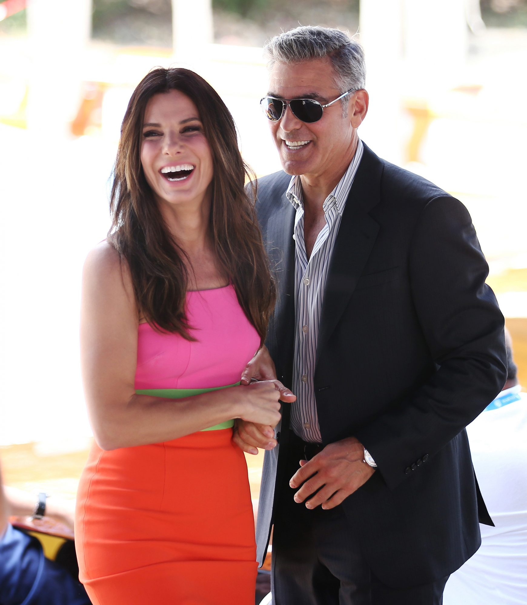 Sandra Bullock and George Clooney - 70th Venice International Film Festival at the Palazzo del Casino on August 28, 2013