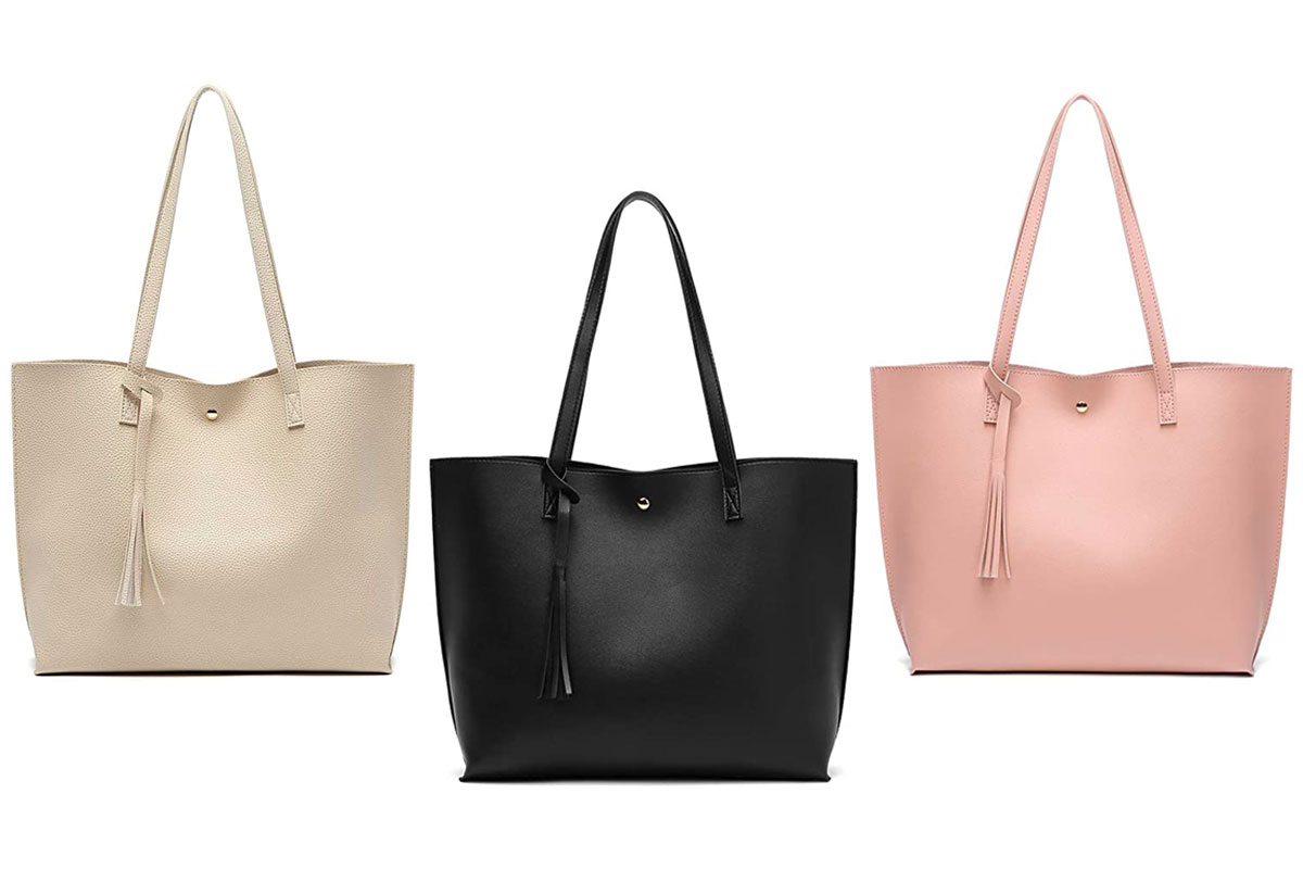 Soft Faux Leather Tote Shoulder Bag from Dreubea