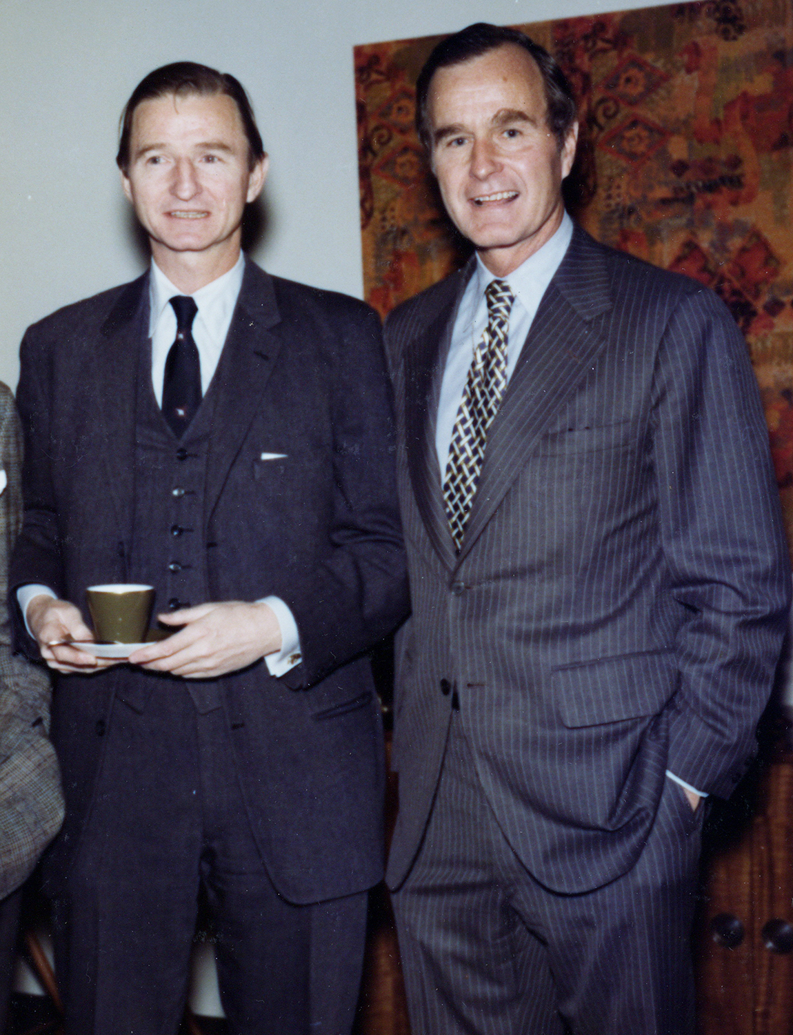 George Bush with friend Gerry Bemiss and brother Jonathan. January 1976
