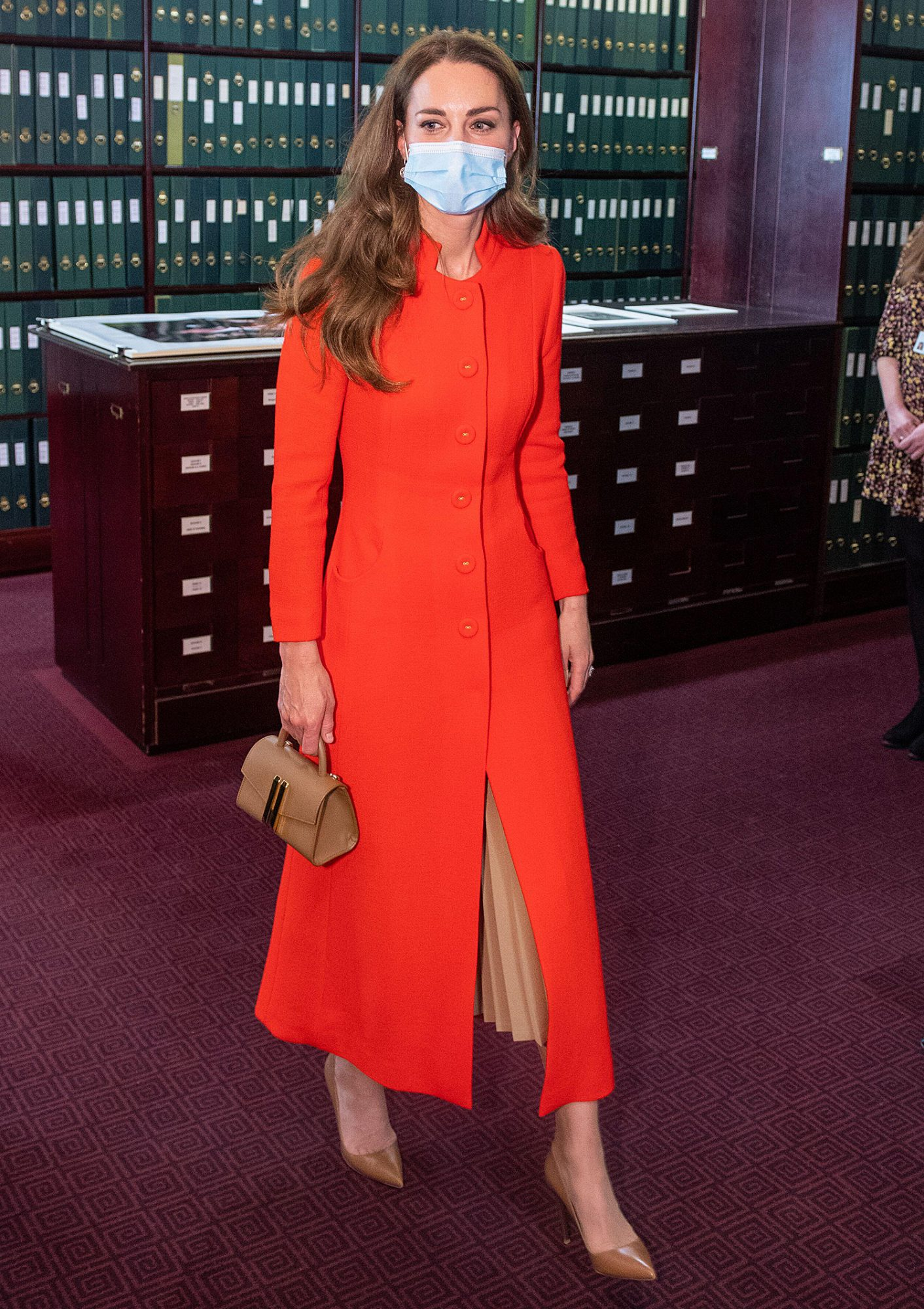 The Duchess of Cambridge during a visit to the archive in the National Portrait Gallery