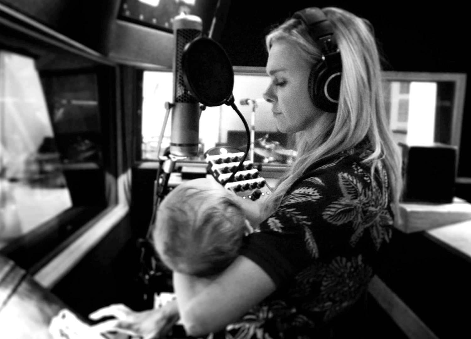 Laura Bell Bundy and son Huck