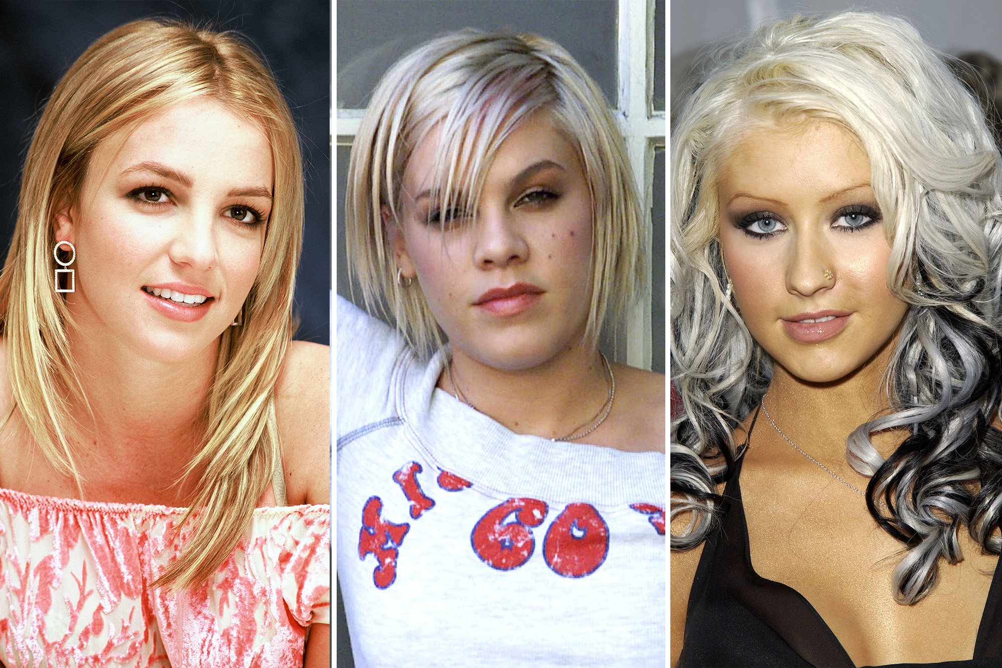 pink, christina aguilera and britney spears