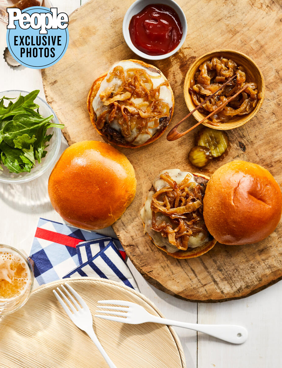 Tom Colicchio's Burgers with Caramelized Balsamic Onions
