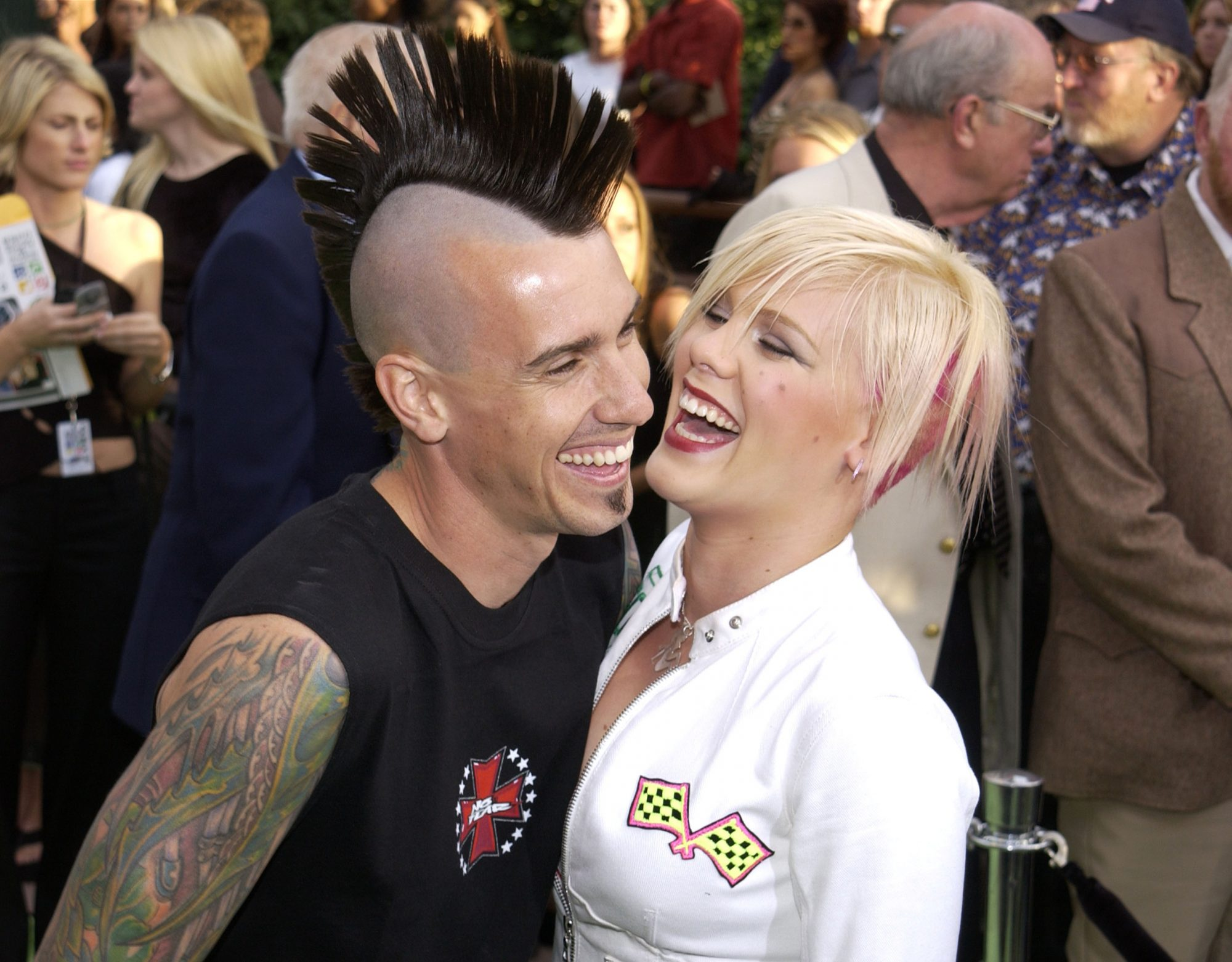 pink and carey hart in 2000s