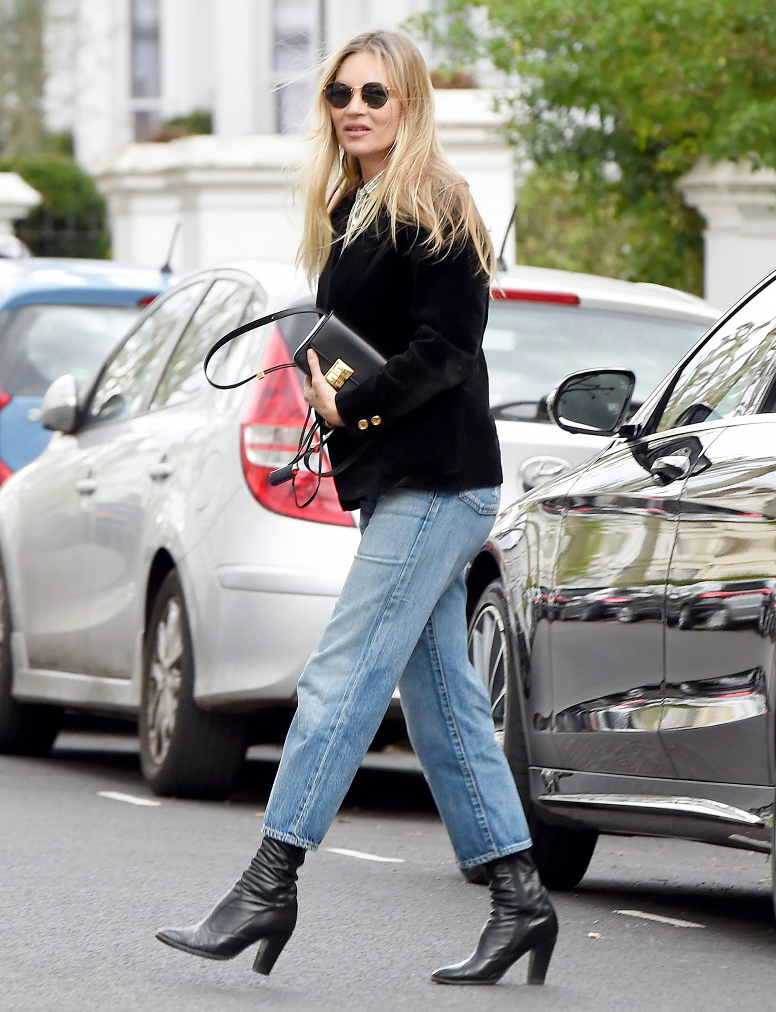 Kate Moss is Pictured Stepping Out in London.