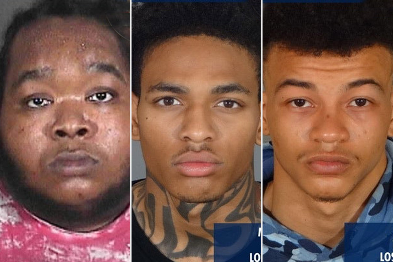 Malik Lamont Powell, 20 years old from Los Angeles, CA Khai McGhee, 18 years old from Los Angeles, CA Marquise Anthony Gordon, 30 years old from Los Angeles, CA