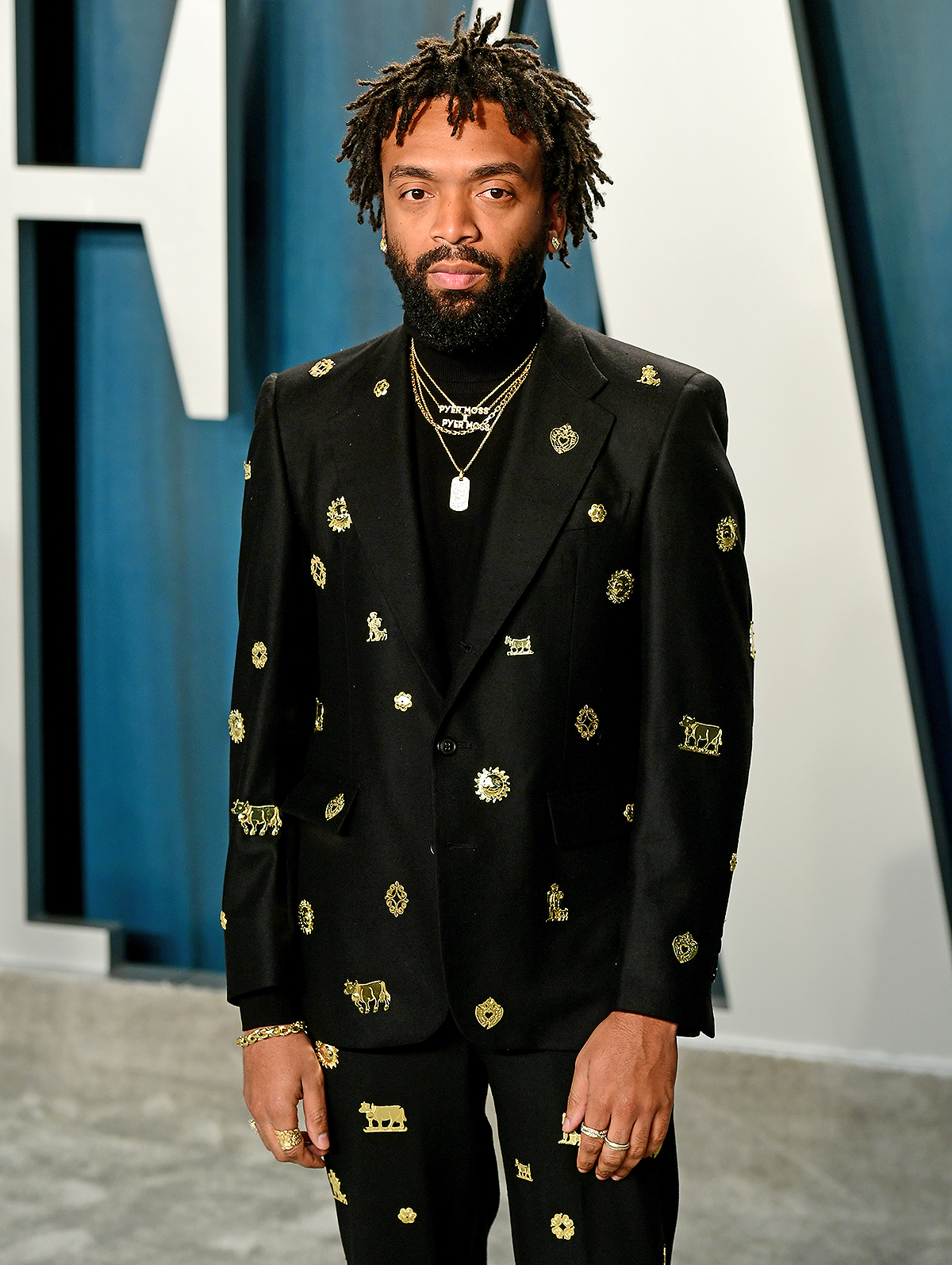 Kerby Jean-Raymond attending the Vanity Fair Oscar Party held at the Wallis Annenberg Center for the Performing Arts in Beverly Hills, Los Angeles