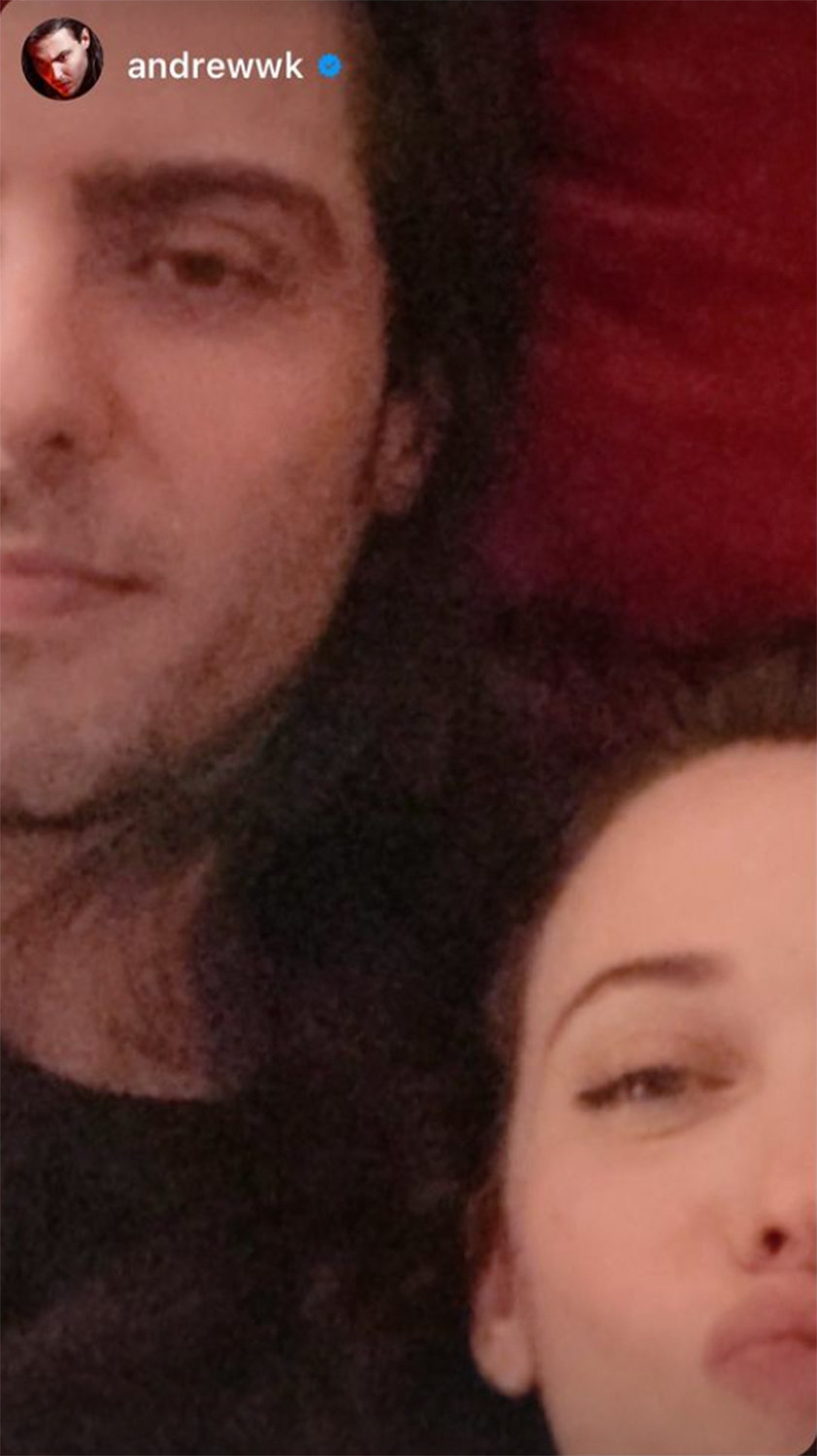 Kat Dennings and Andrew WK