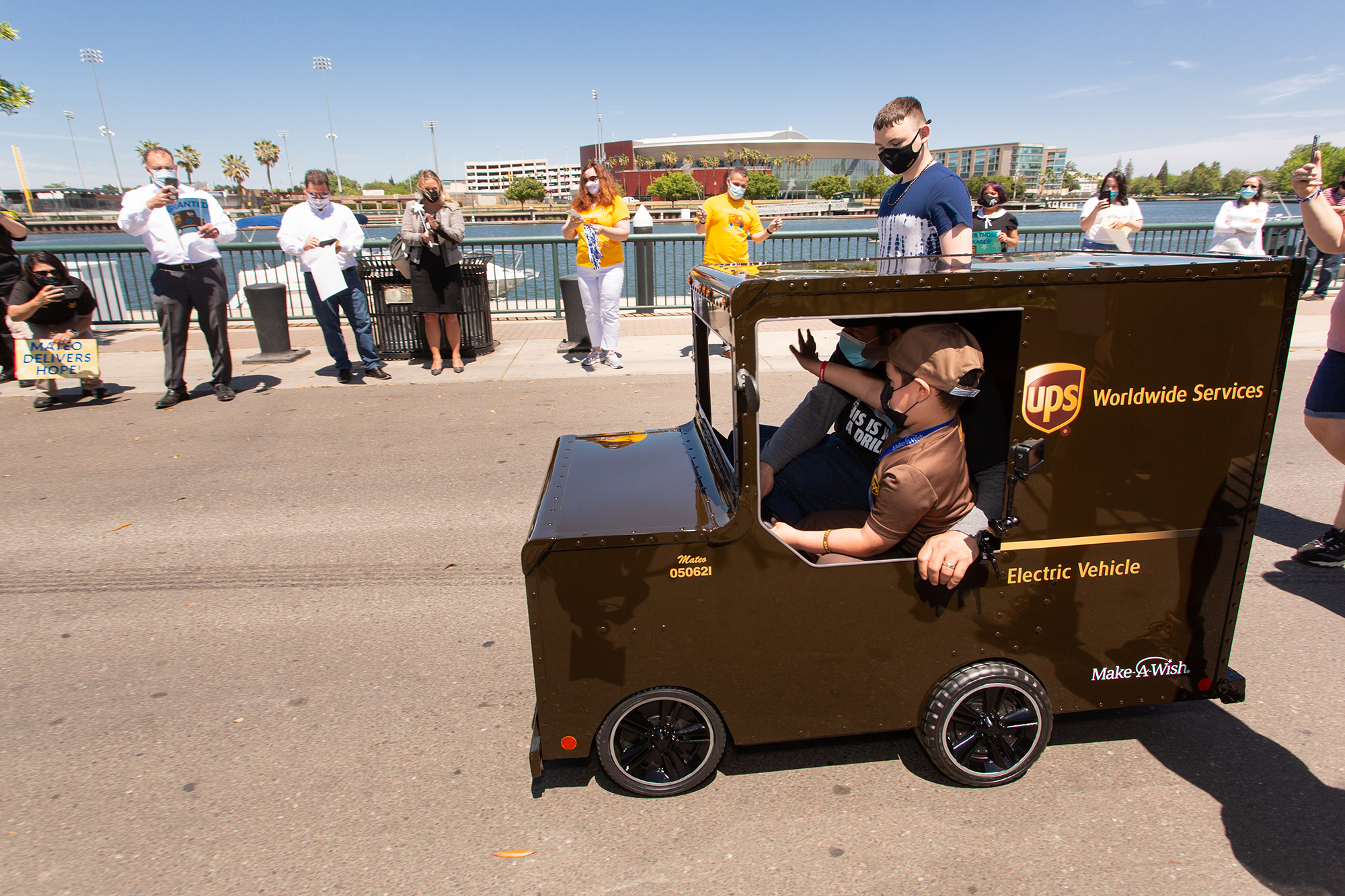 Mateo Toscano — from Stockton, California, who recently had his wish of becoming a UPS driver come true