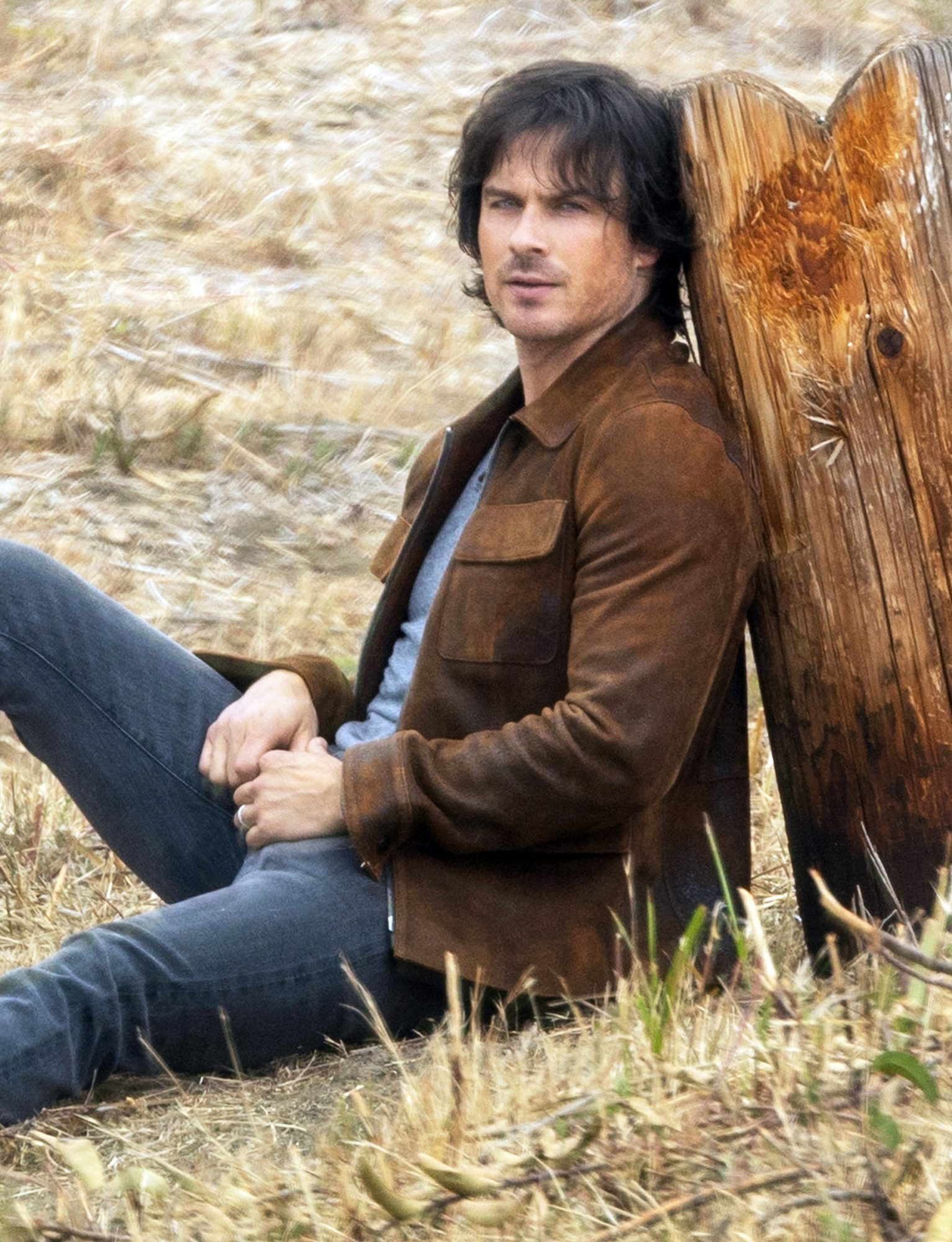 Ian Somerhalder shares his best angles during a photoshoot in Malibu