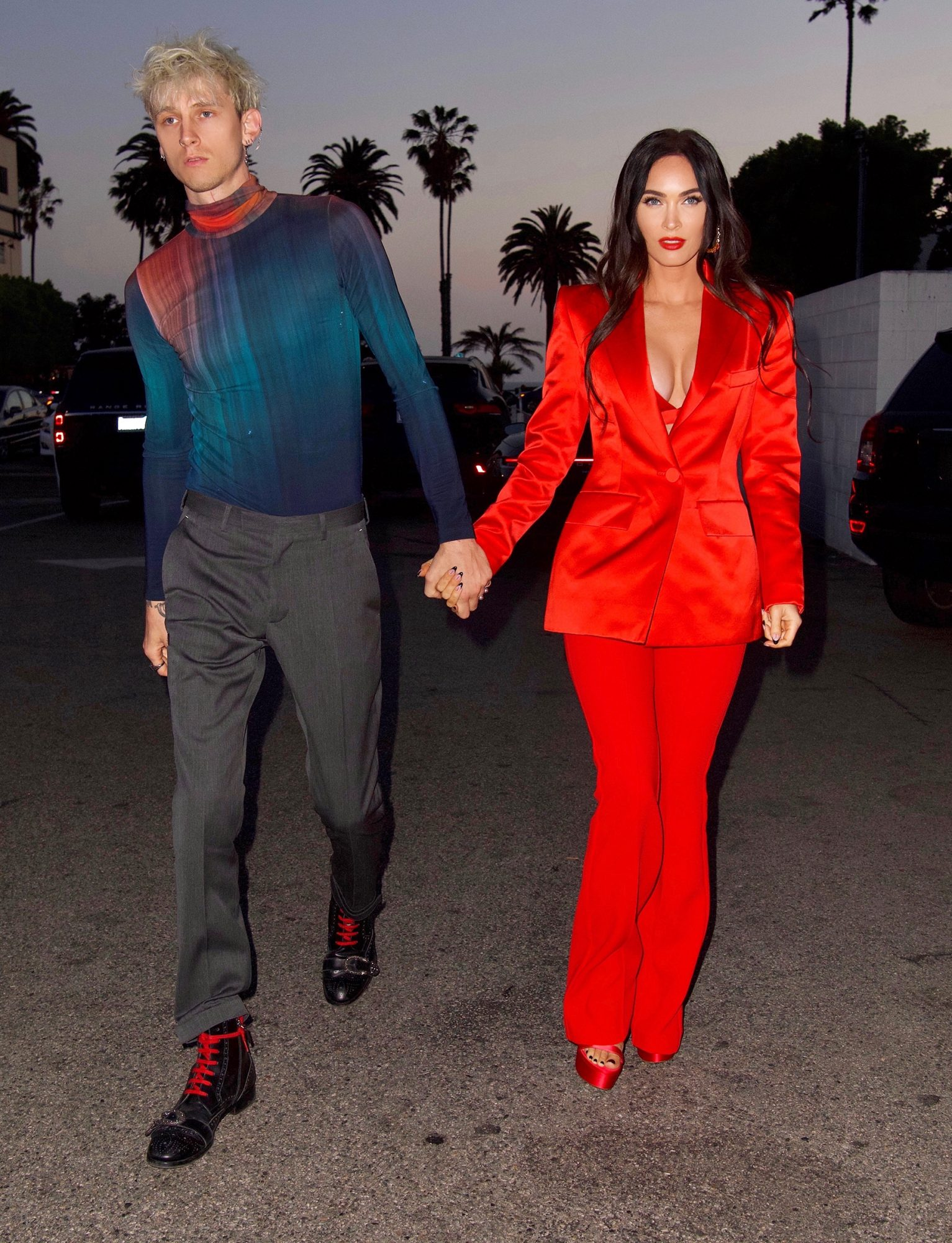 Megan Fox is Red Hot As She Puts On A Busty Display To Celebrate Her 35th Birthday in Santa Monica with Machine Gun Kelly.