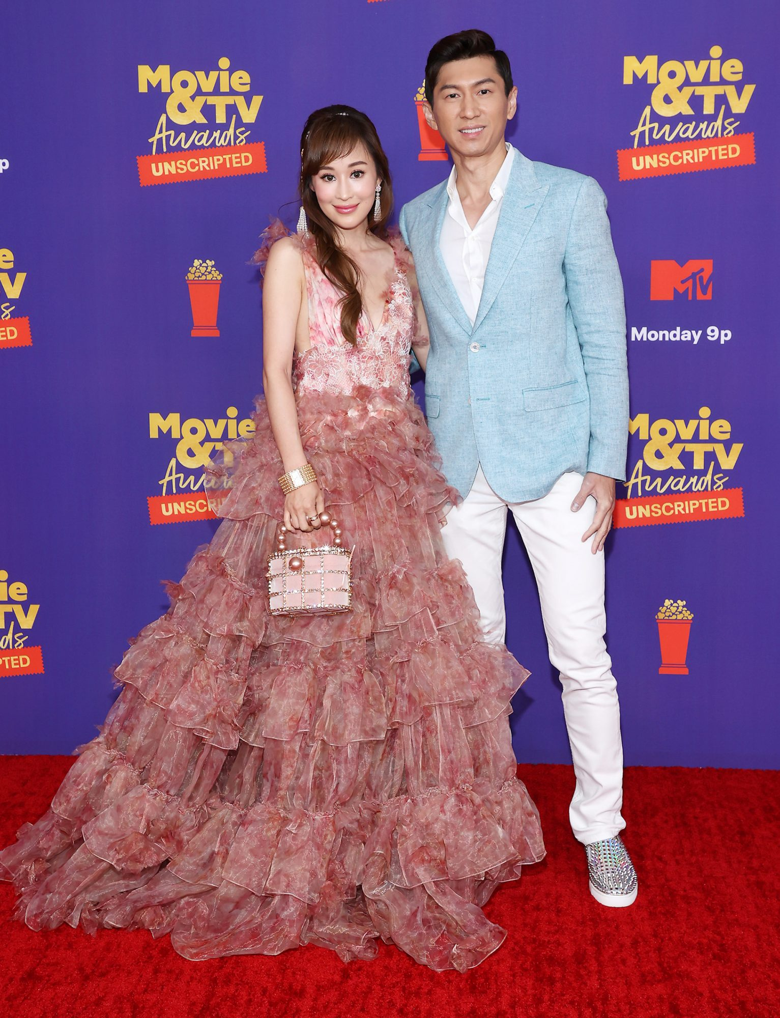 Cherie Chan and Jessey Lee -- 2021 MTV Movie & TV Awards: UNSCRIPTED - Arrivals