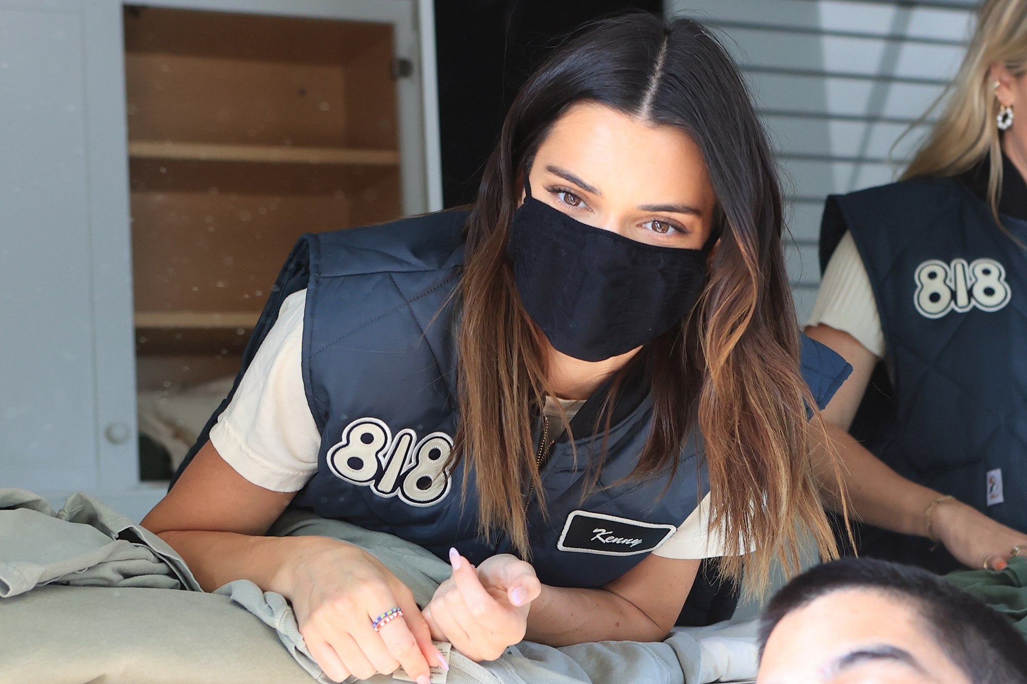 Kendall Jenner gives away 818 Tequila merchandise from her custom truck