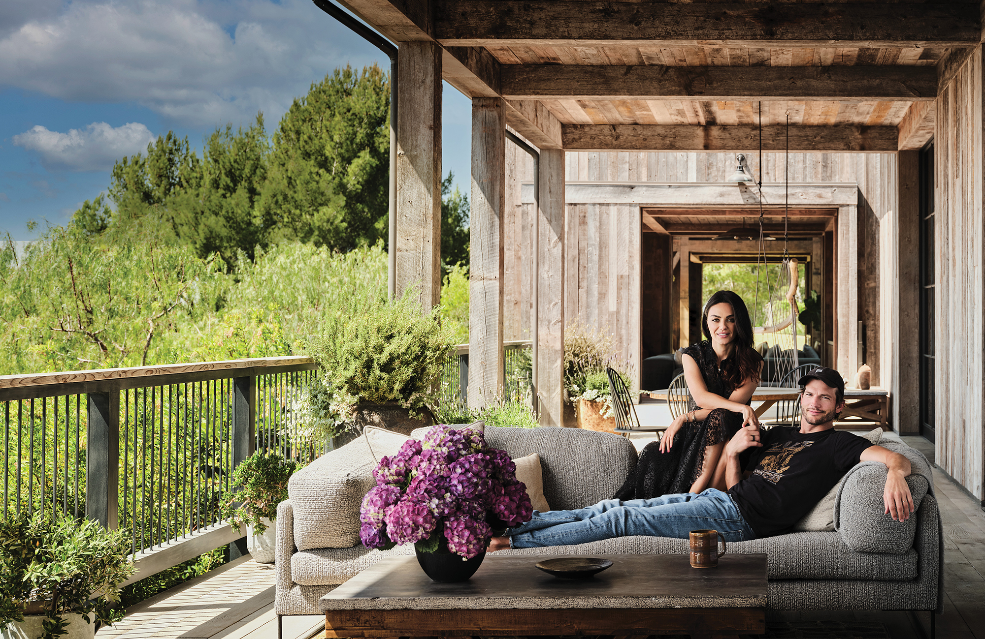 Mila Kunis and Ashton Kutcher for Architectural Digest